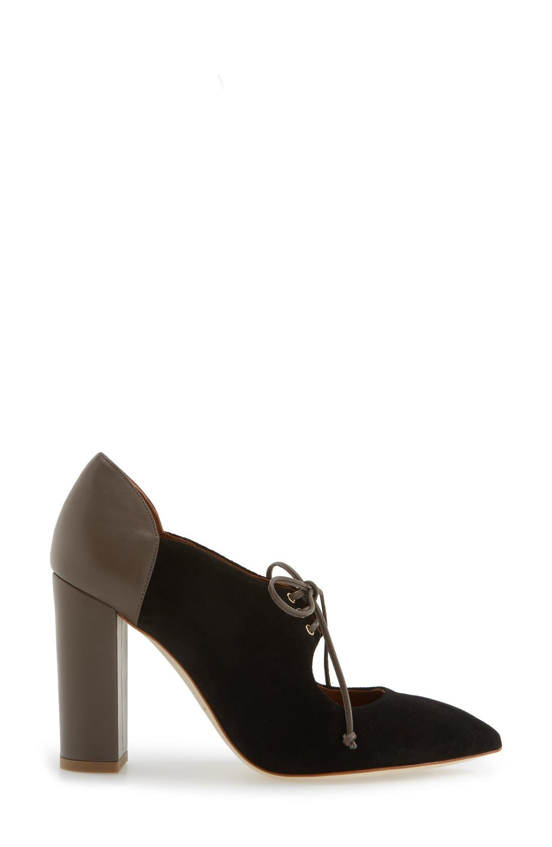 MALONE SOULIERS, 'Marjorie' Pointy Toe Pump, Alternate thumbnail 2, color, 001