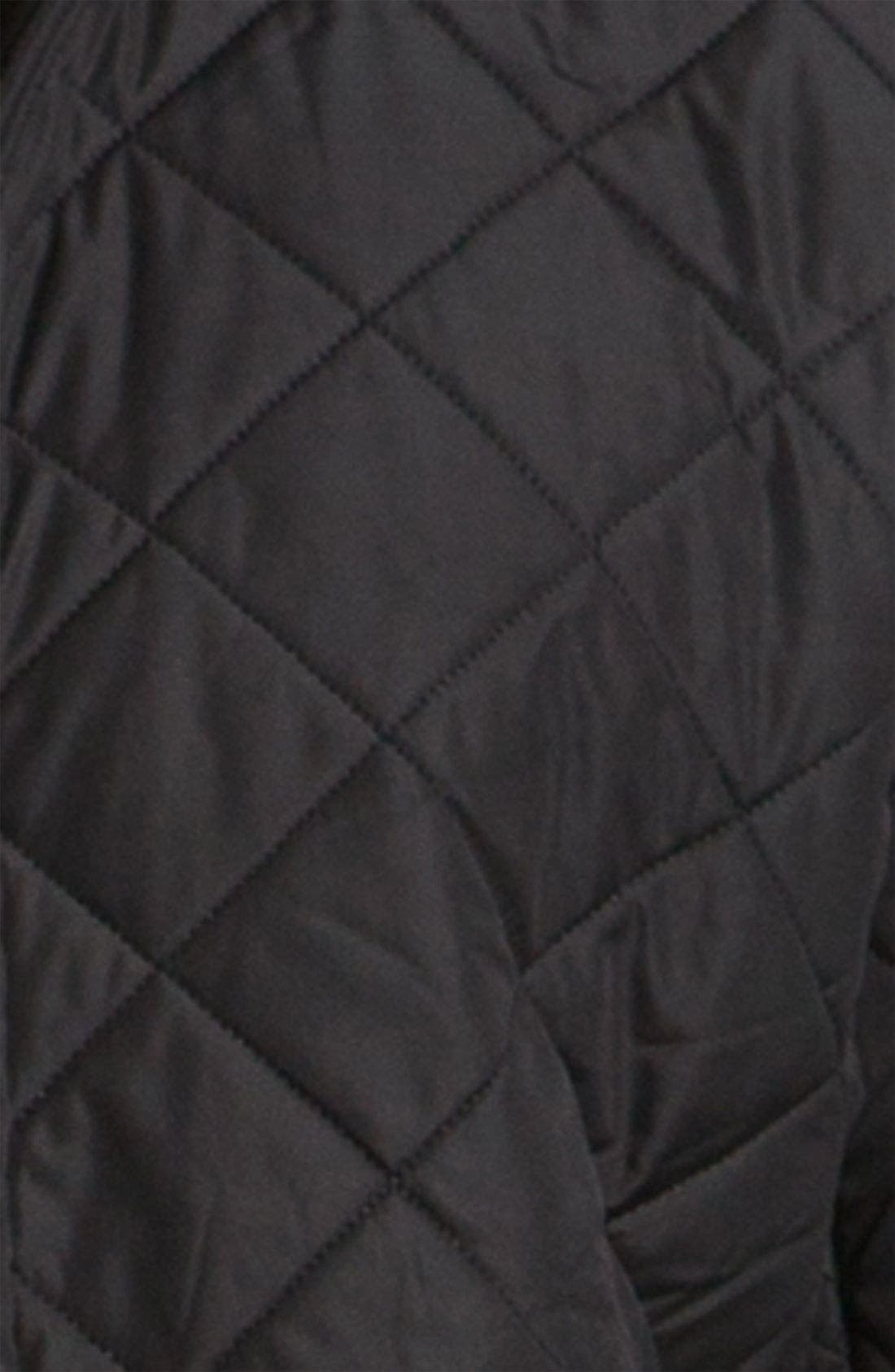 BARBOUR, 'Powell' Regular Fit Quilted Jacket, Alternate thumbnail 6, color, BLACK