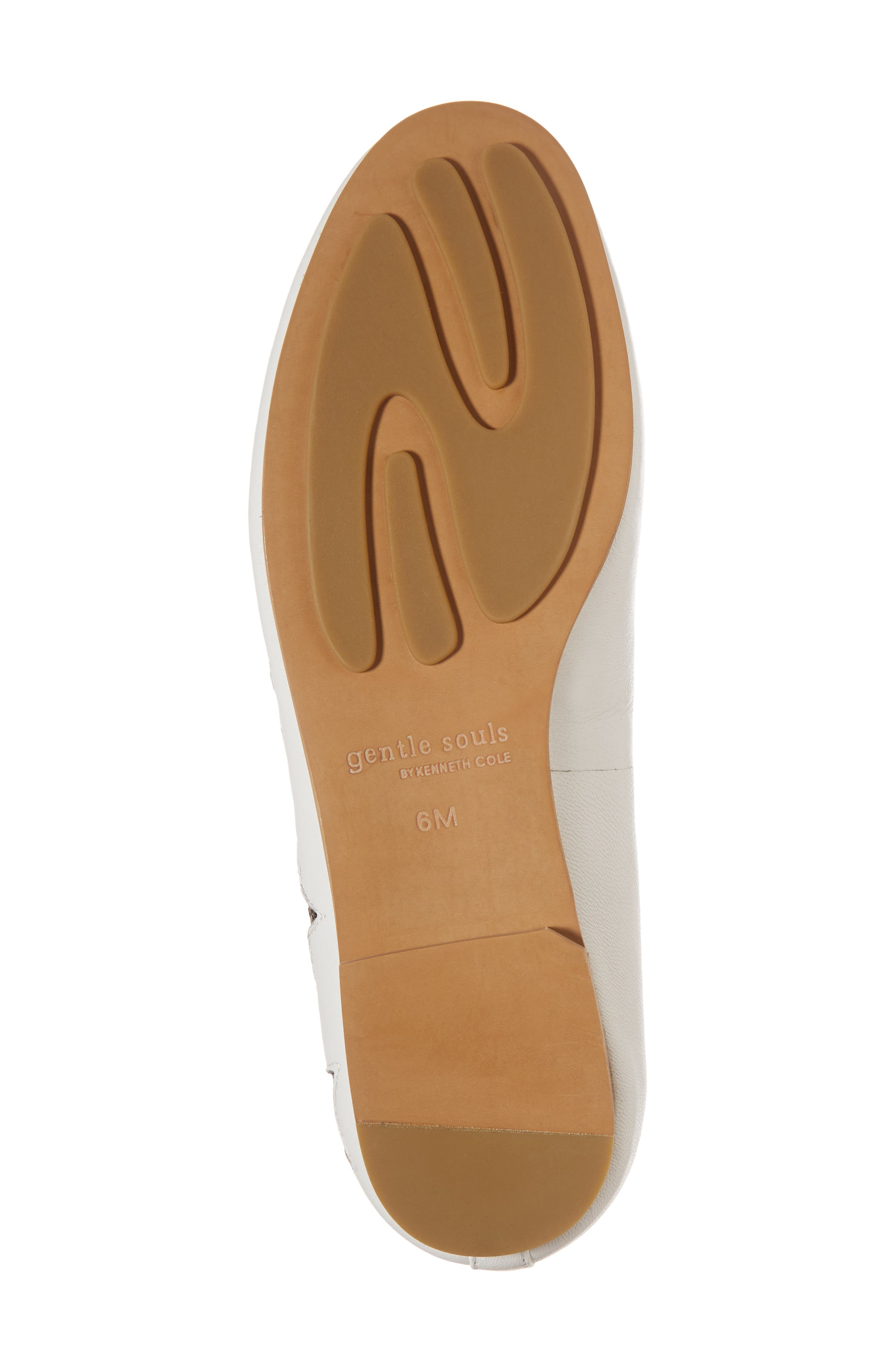 GENTLE SOULS BY KENNETH COLE, Eugene Stars Flat, Alternate thumbnail 6, color, WHITE STARS LEATHER