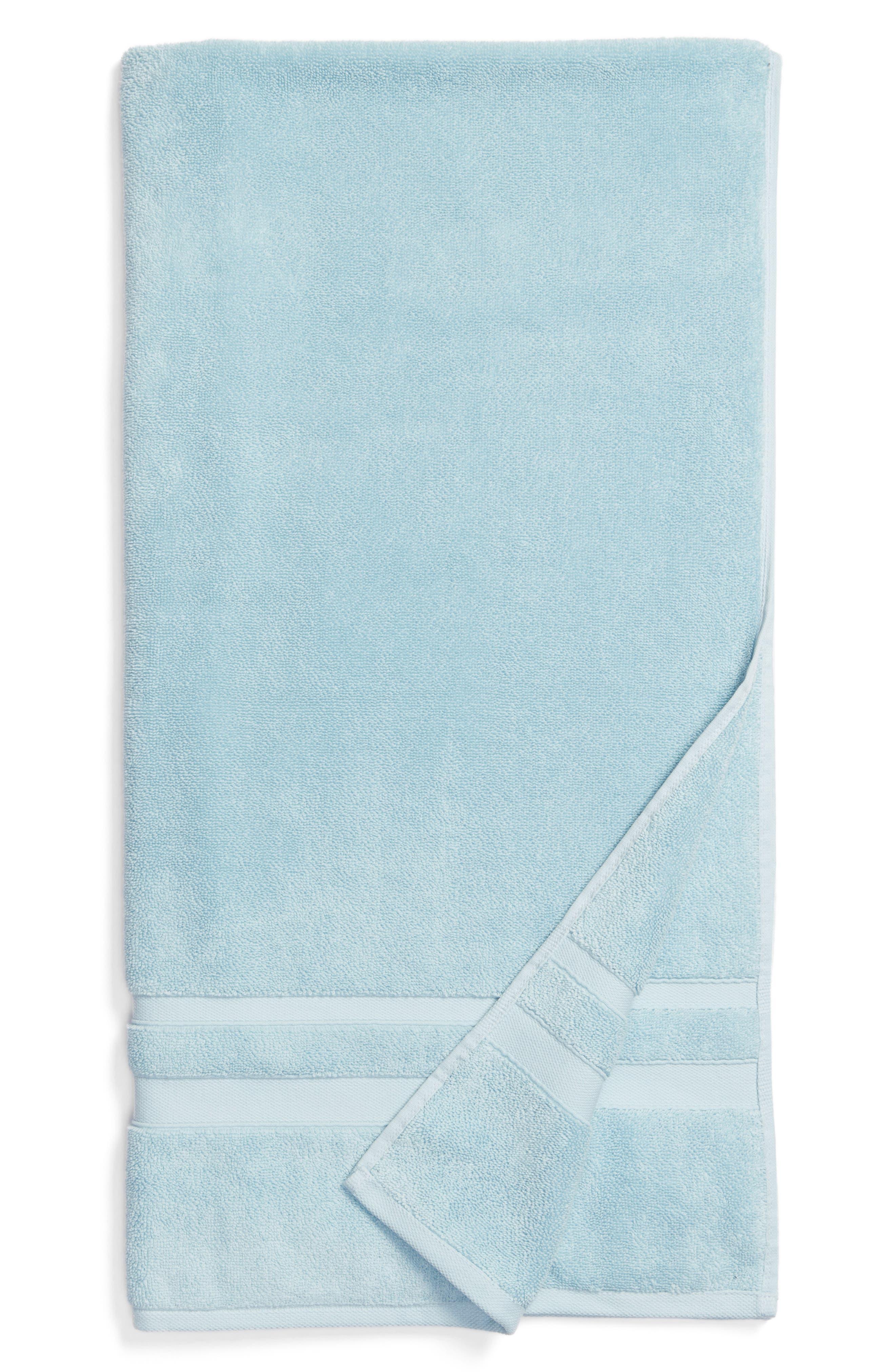 WATERWORKS STUDIO, 'Perennial' Turkish Cotton Bath Towel, Main thumbnail 1, color, CHRYSTAL BLUE