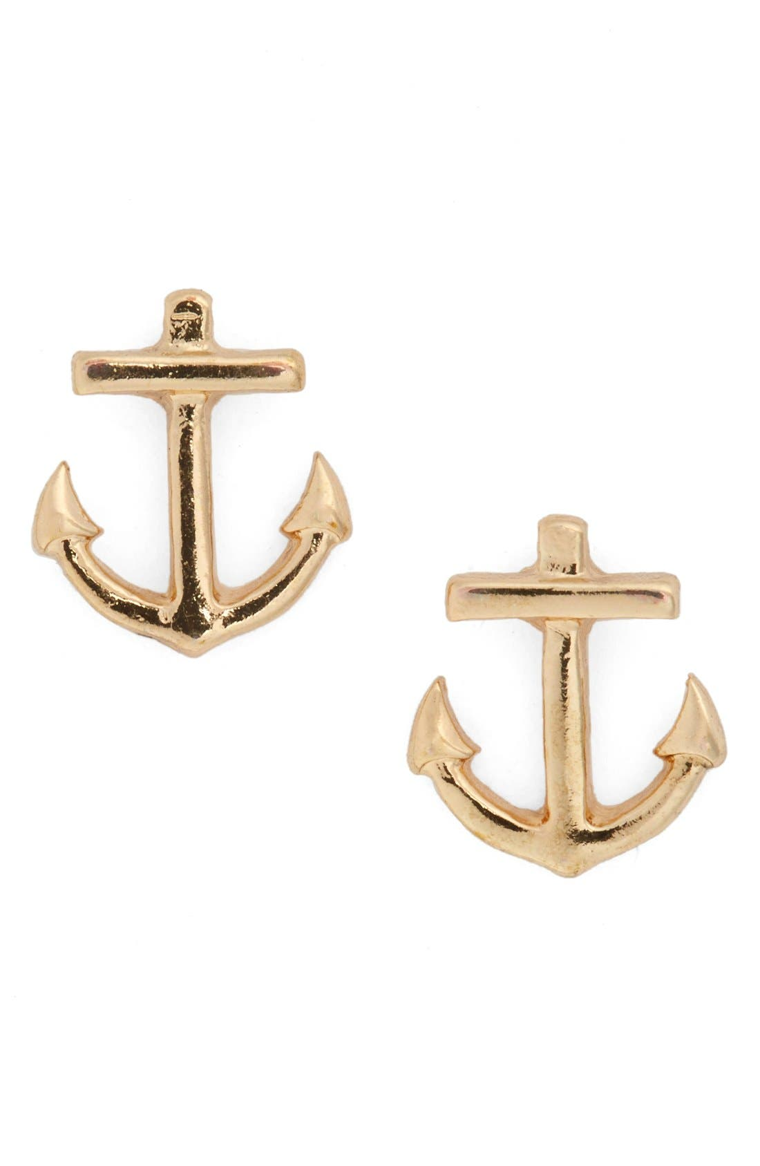 BP., Anchor Stud Earrings, Main thumbnail 1, color, 710