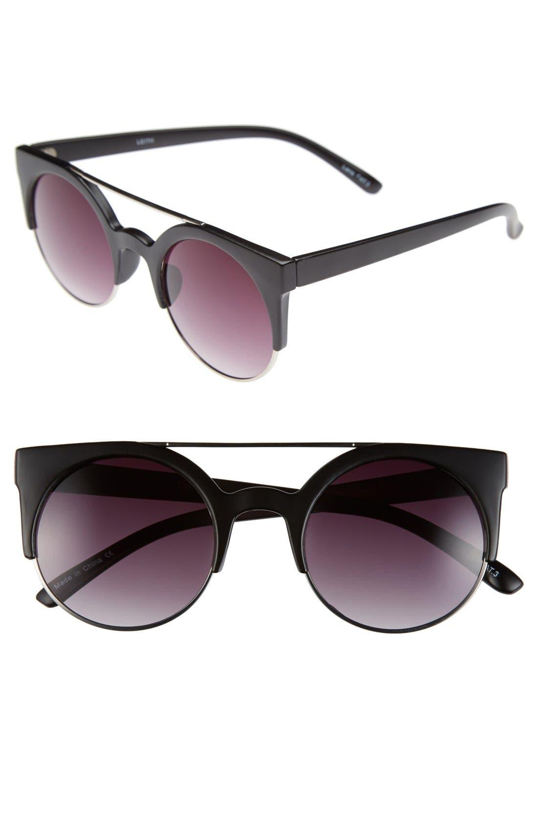 LEITH, Aviator Sunglasses, Main thumbnail 1, color, 001