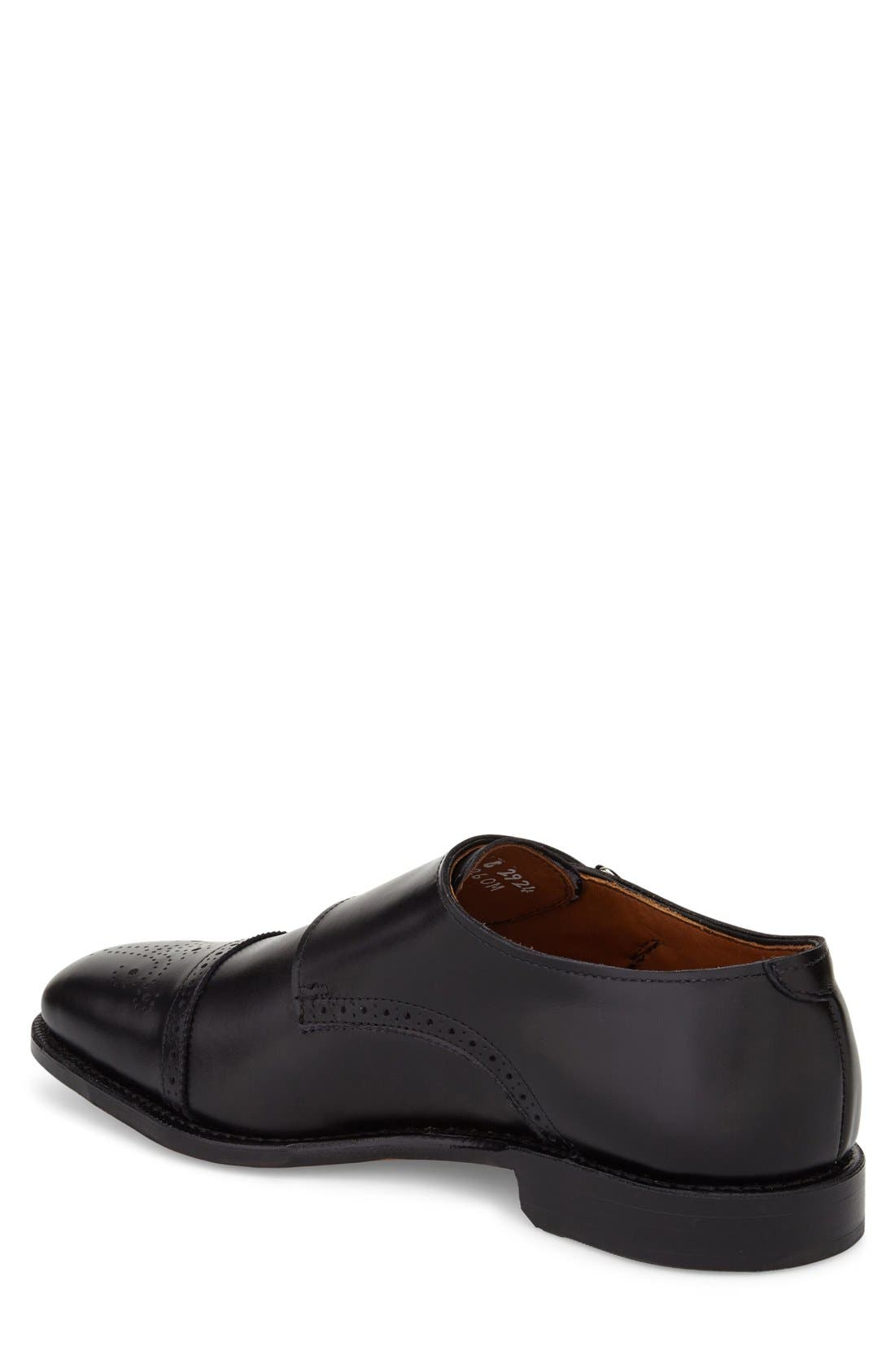 ALLEN EDMONDS, 'St. Johns' Double Monk Strap Shoe, Alternate thumbnail 3, color, BLACK LEATHER