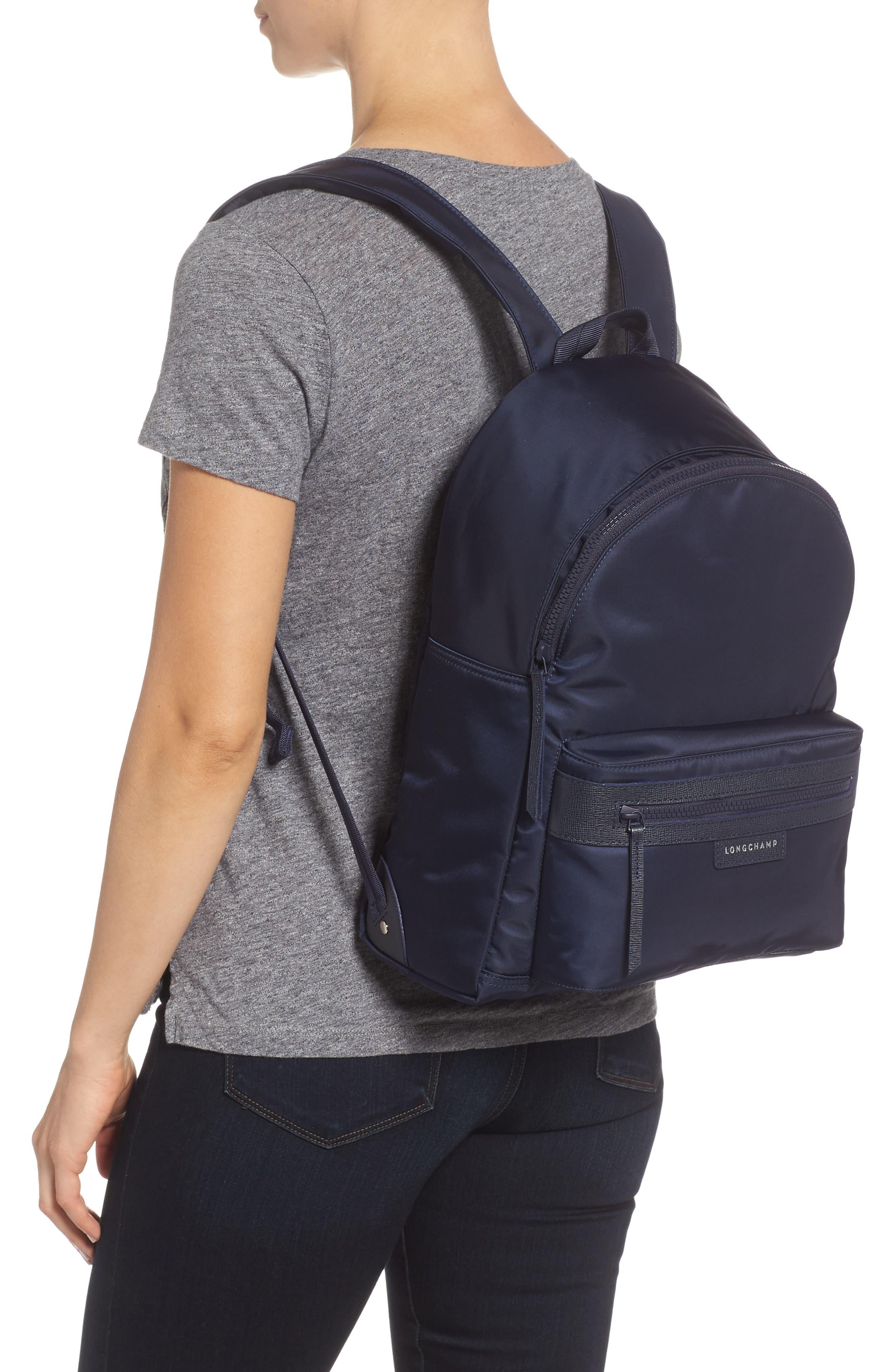 LONGCHAMP, 'Le Pliage Neo' Nylon Backpack, Alternate thumbnail 2, color, NAVY BLUE