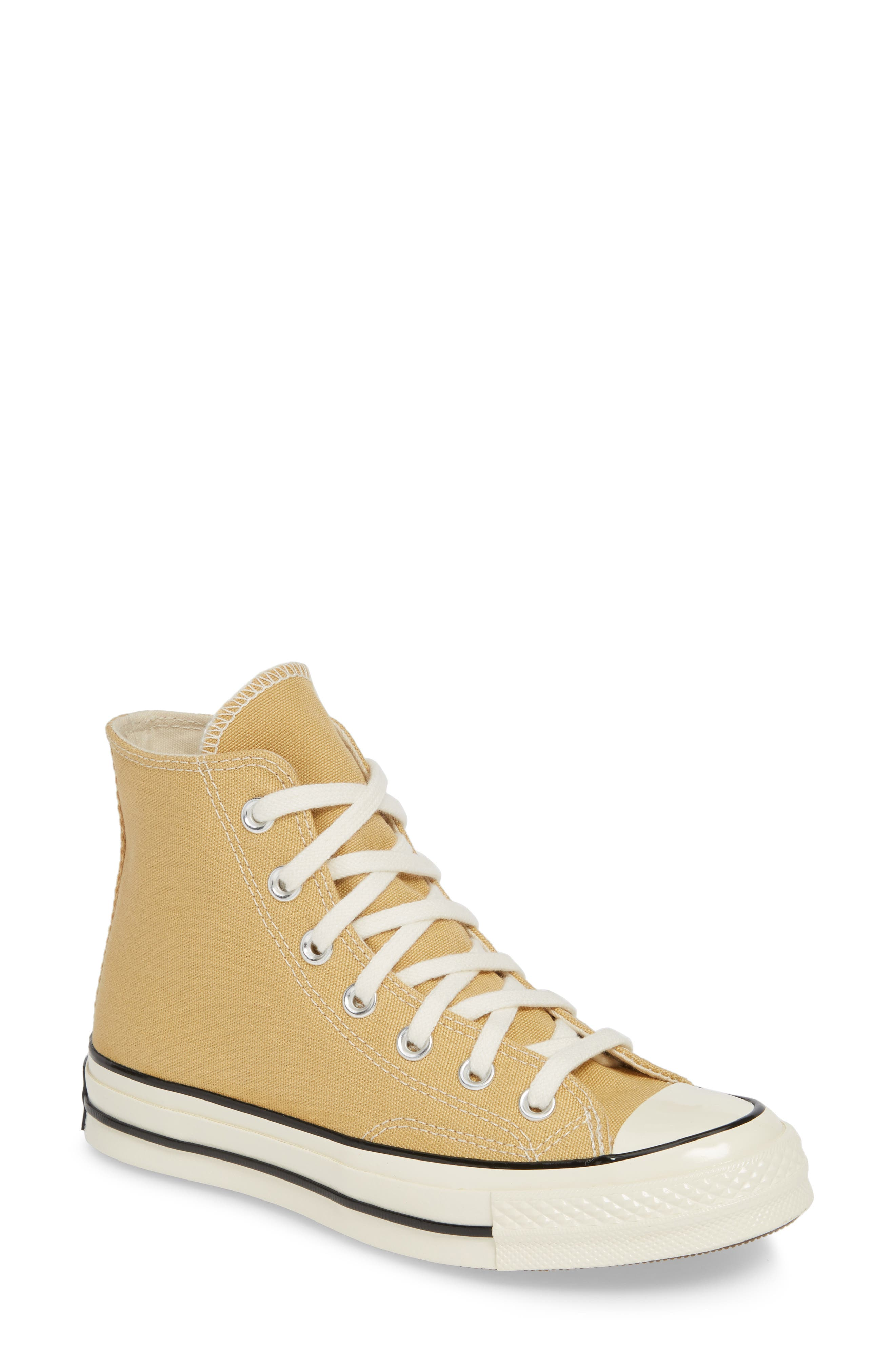 CONVERSE Chuck Taylor<sup>®</sup> All Star<sup>®</sup> 70 High Top Sneaker, Main, color, CLUB GOLD/ EGRET/ BLACK