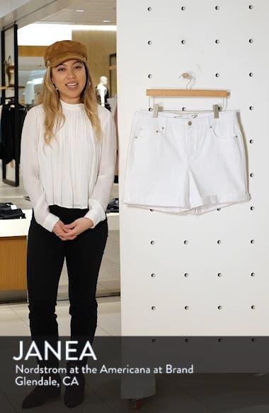 High Waist Stretch Denim Shorts, sales video thumbnail
