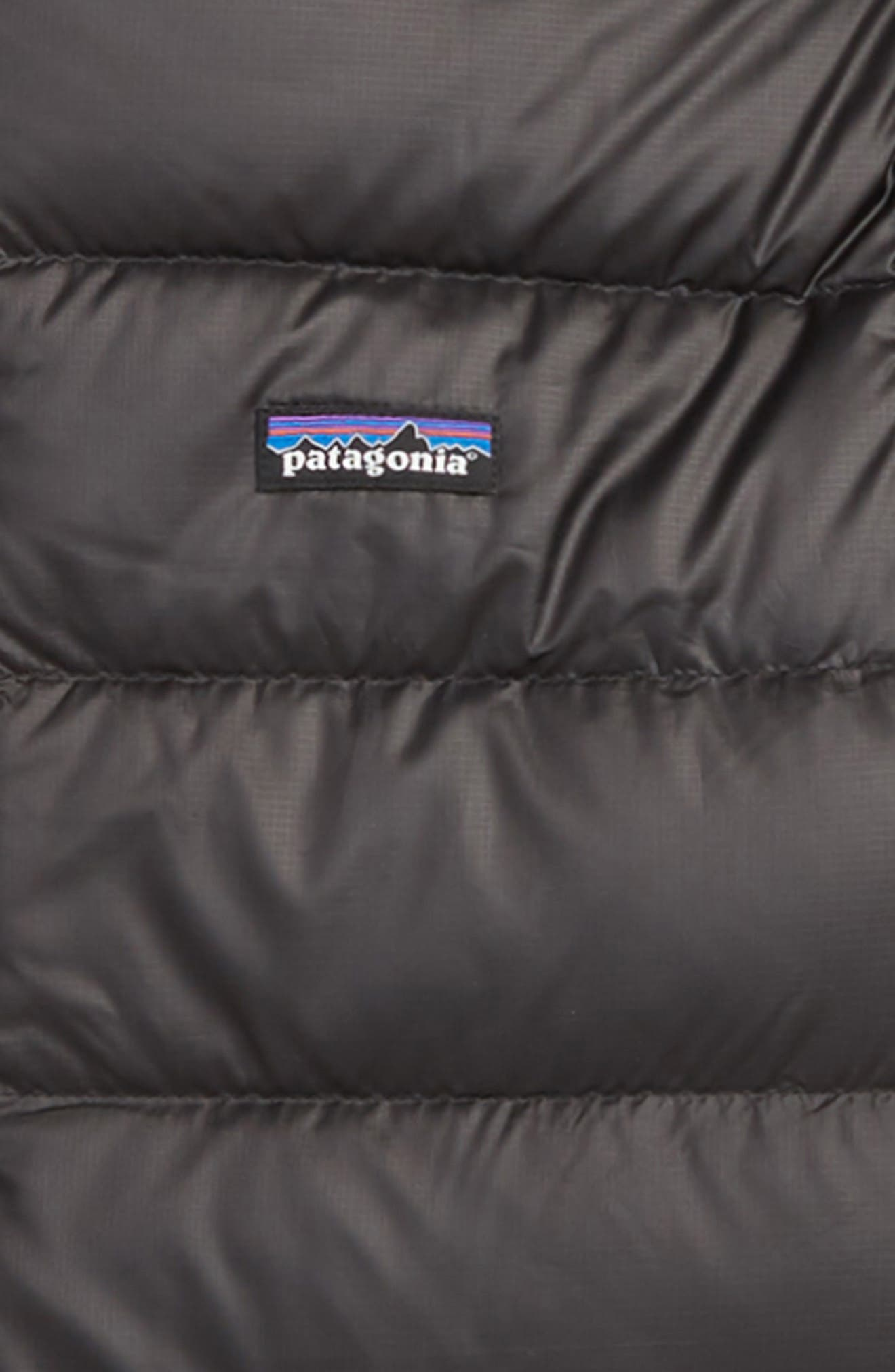 PATAGONIA, Hooded Down Jacket, Alternate thumbnail 2, color, 001