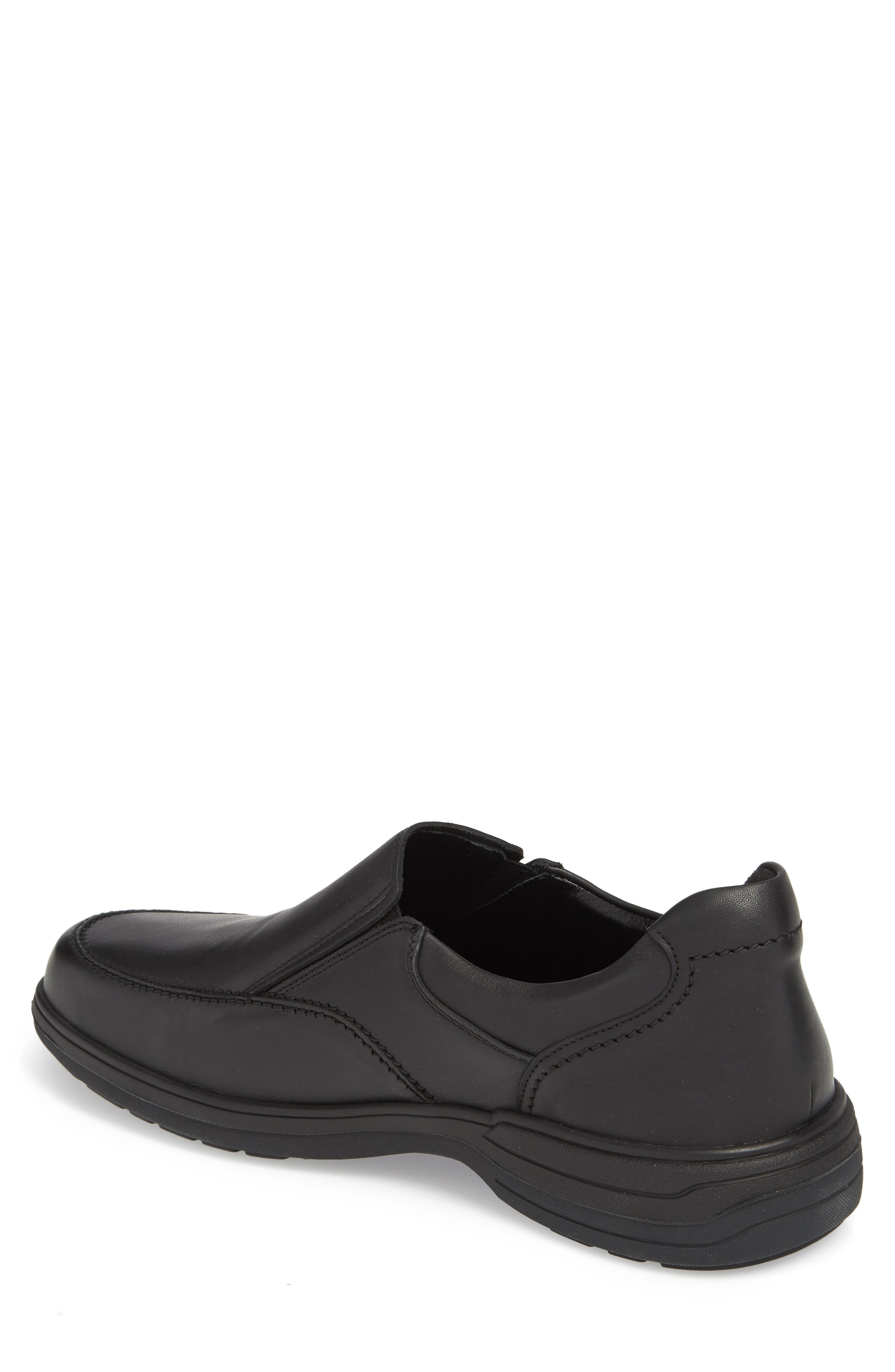 MEPHISTO, Davy Slip-On Men), Alternate thumbnail 2, color, BLACK LEATHER
