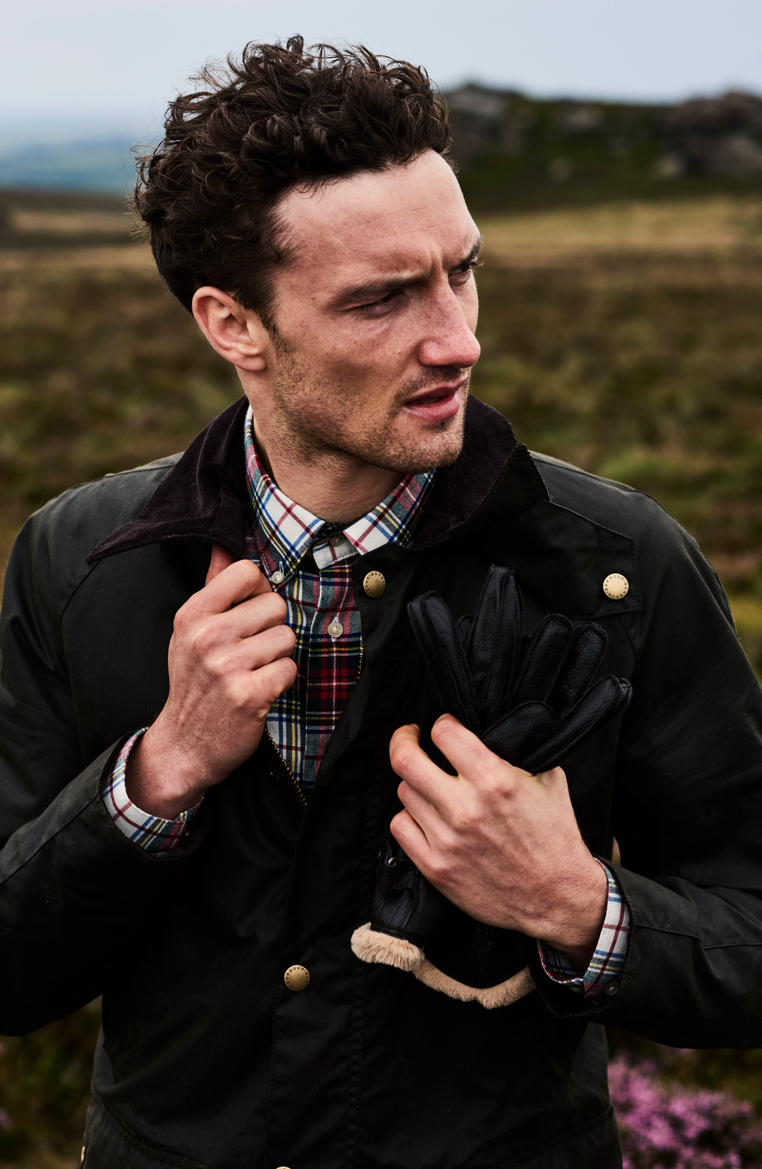BARBOUR, Ashby Wax Jacket, Alternate thumbnail 13, color, OLIVE