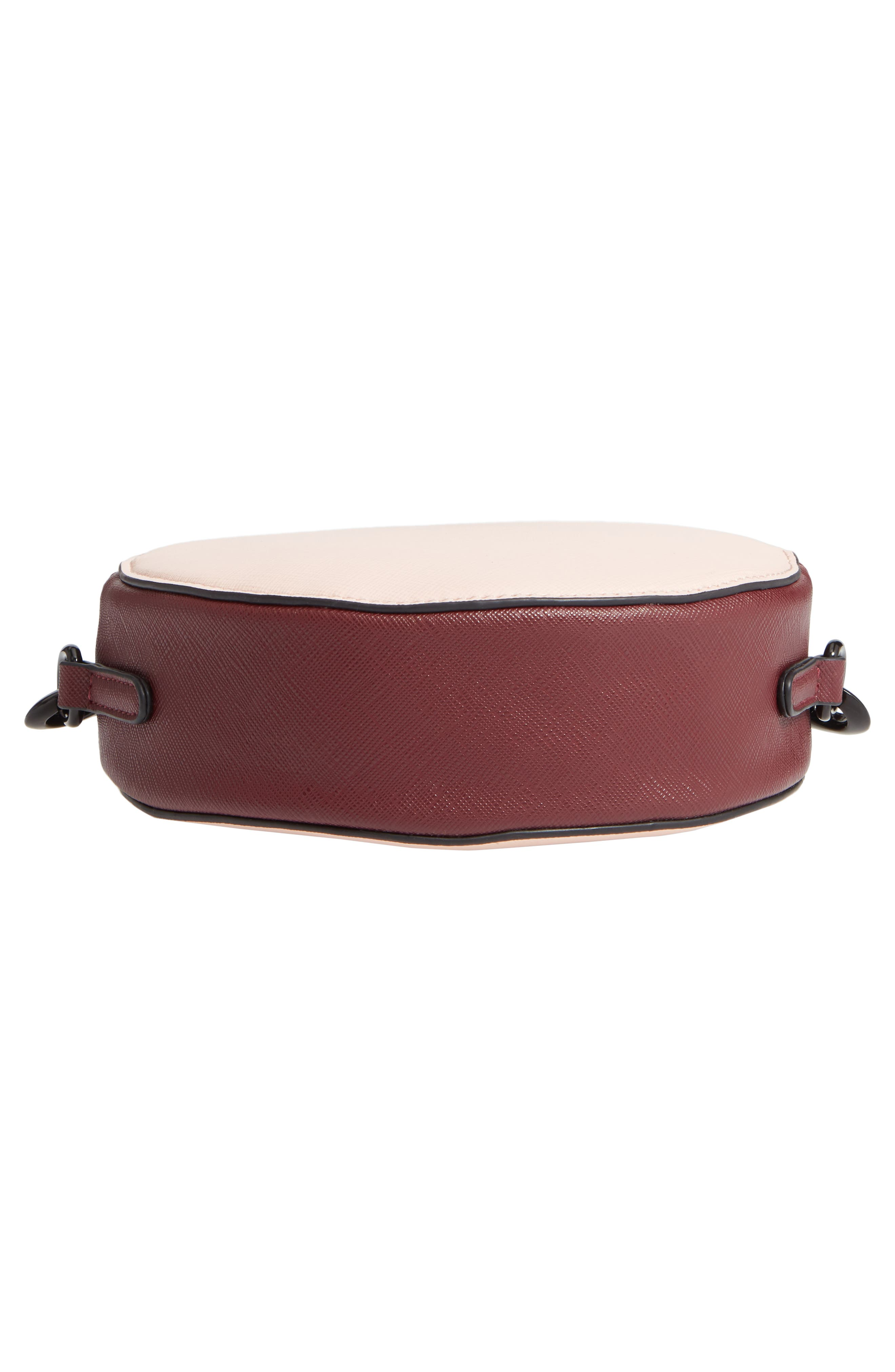 T-SHIRT & JEANS, Faux Leather Colorblock Canteen Crossbody Bag, Alternate thumbnail 8, color, 650