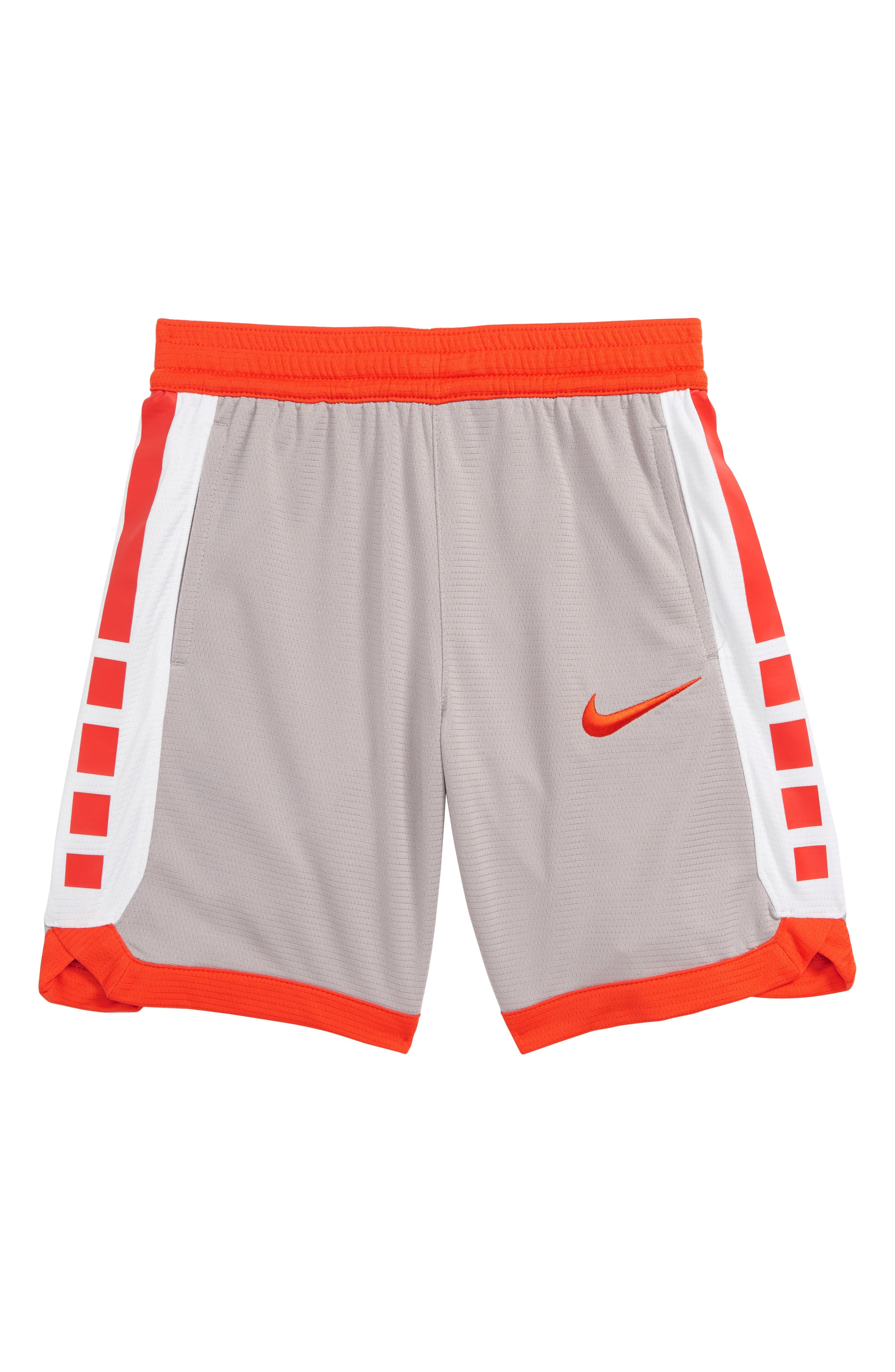 Boys Nike Dry Elite Stripe Athletic Shorts Size 6  Grey
