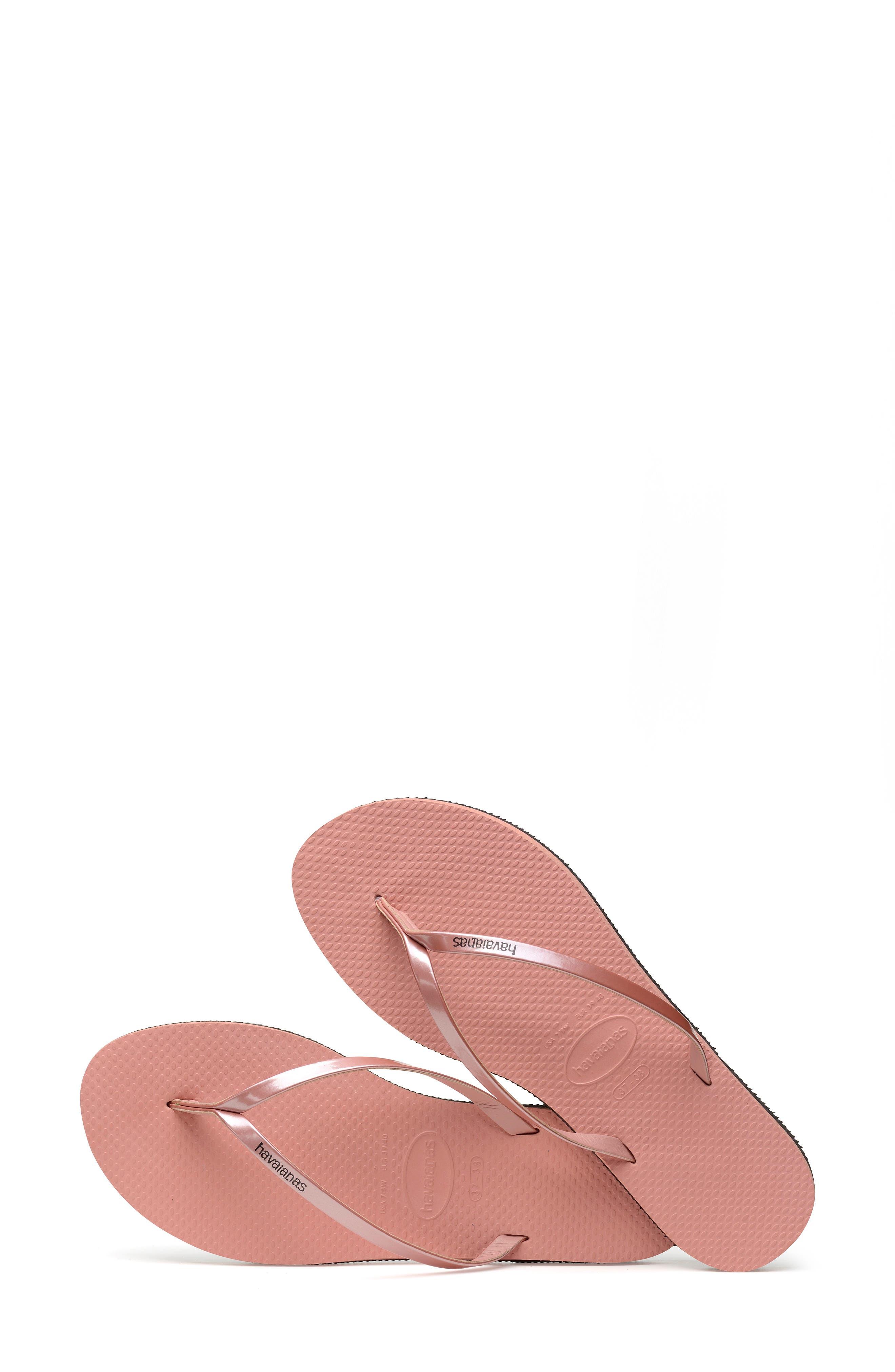 HAVAIANAS, 'You' Flip Flop, Alternate thumbnail 7, color, ROSE NUDE
