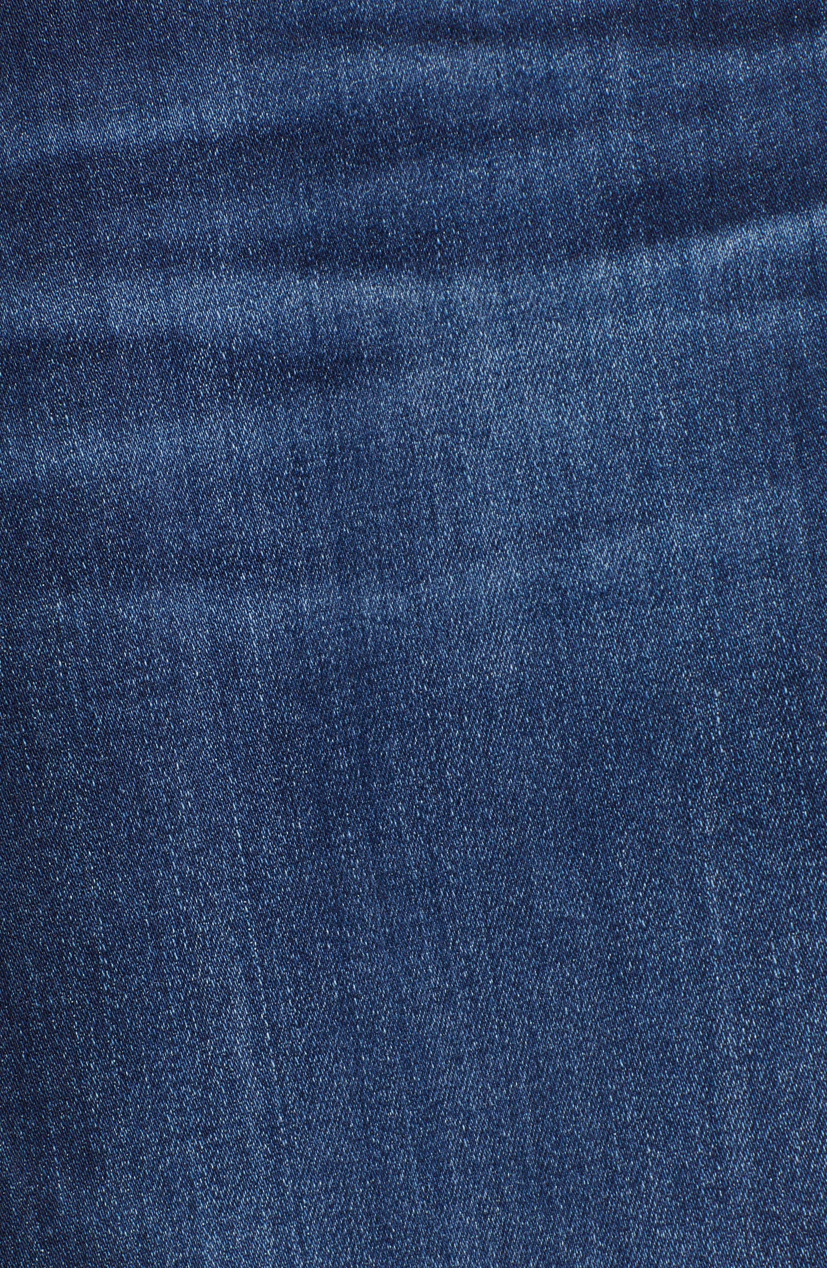 AG, The Prima Raw Hem Crop Jeans, Alternate thumbnail 6, color, 05Y BLUE ESSENCE