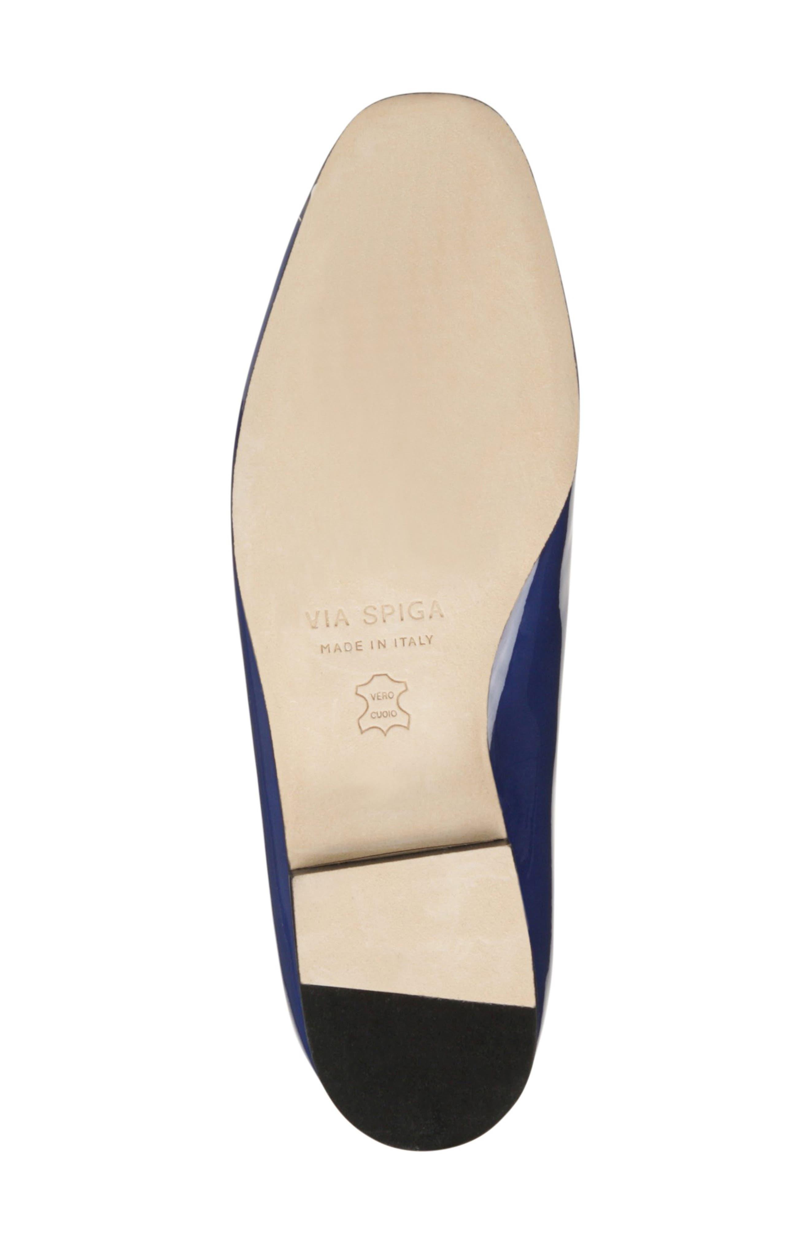VIA SPIGA, Tallis Flat Loafer, Alternate thumbnail 6, color, POP BLUE