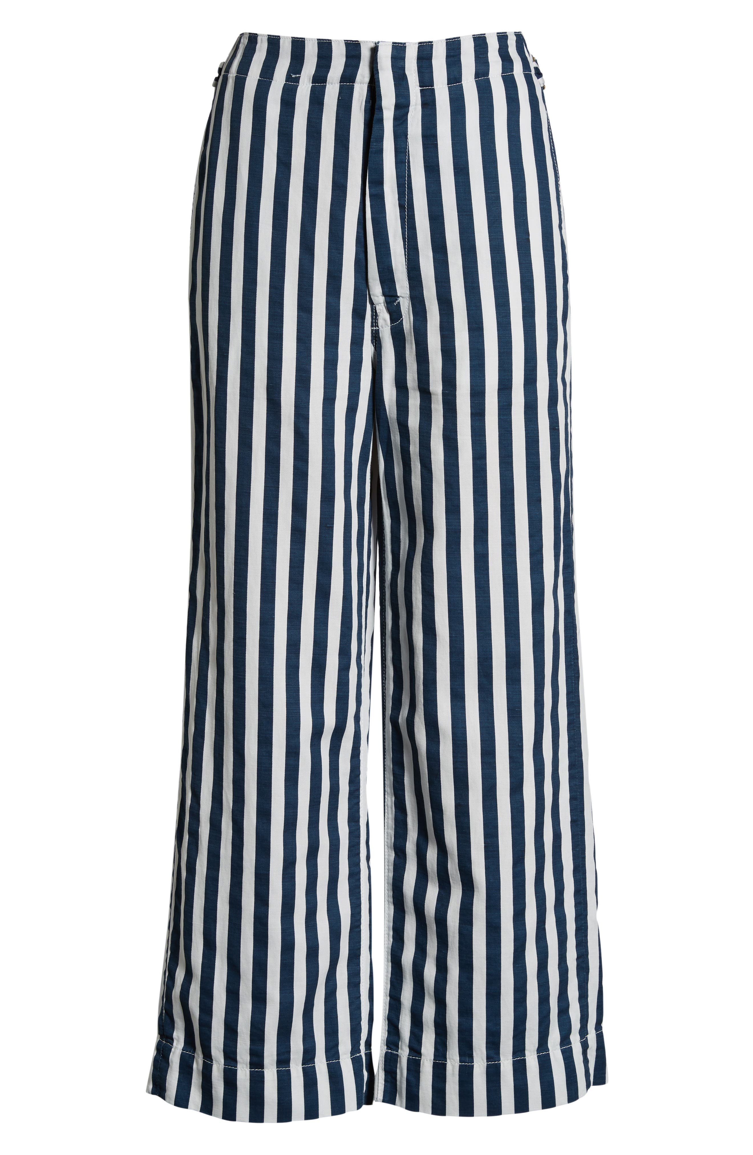 MOTHER, The Cinch Greaser Stripe Pants, Alternate thumbnail 7, color, 110