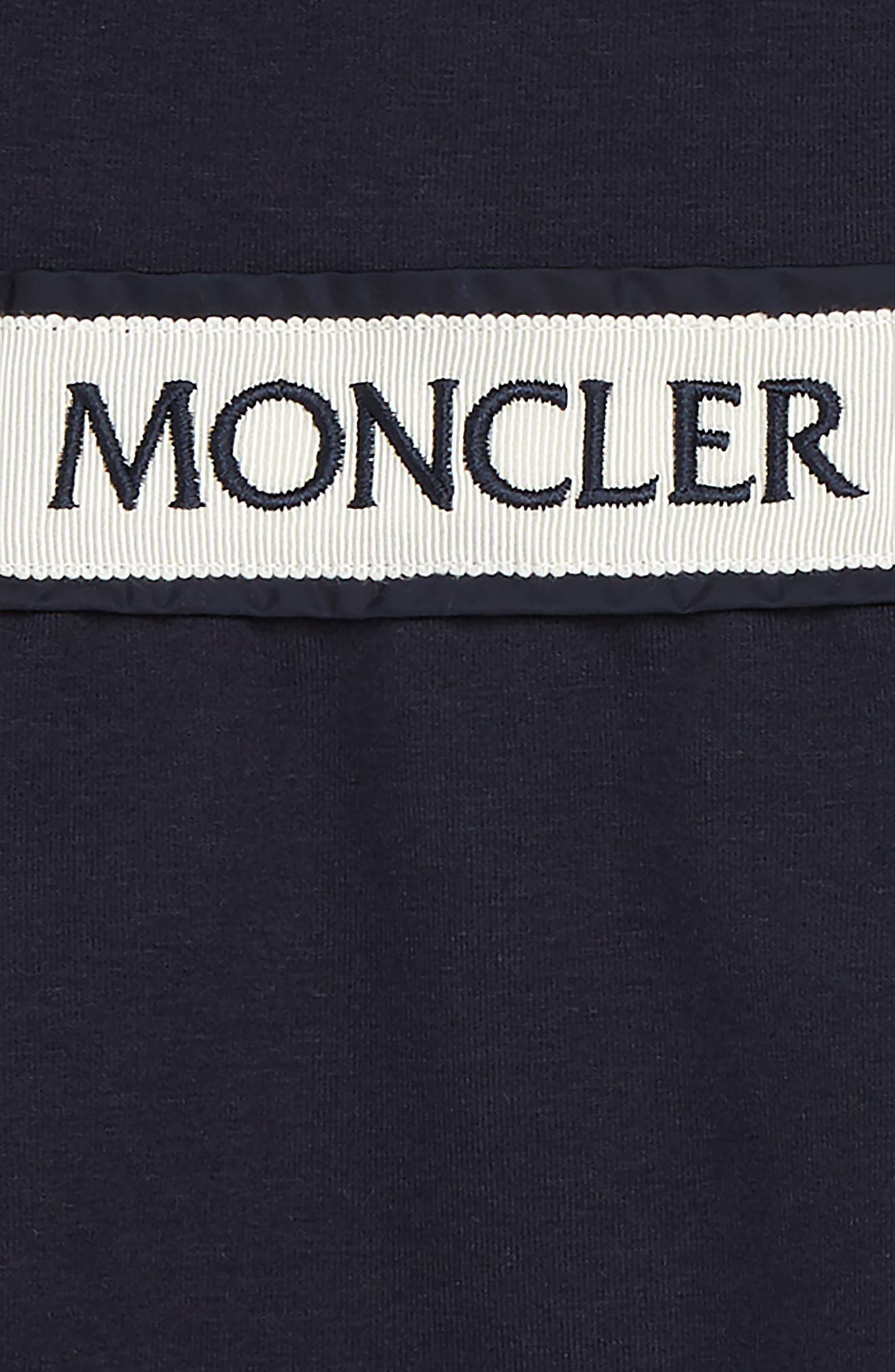 MONCLER, Dress & Leggings Set, Alternate thumbnail 2, color, NAVY