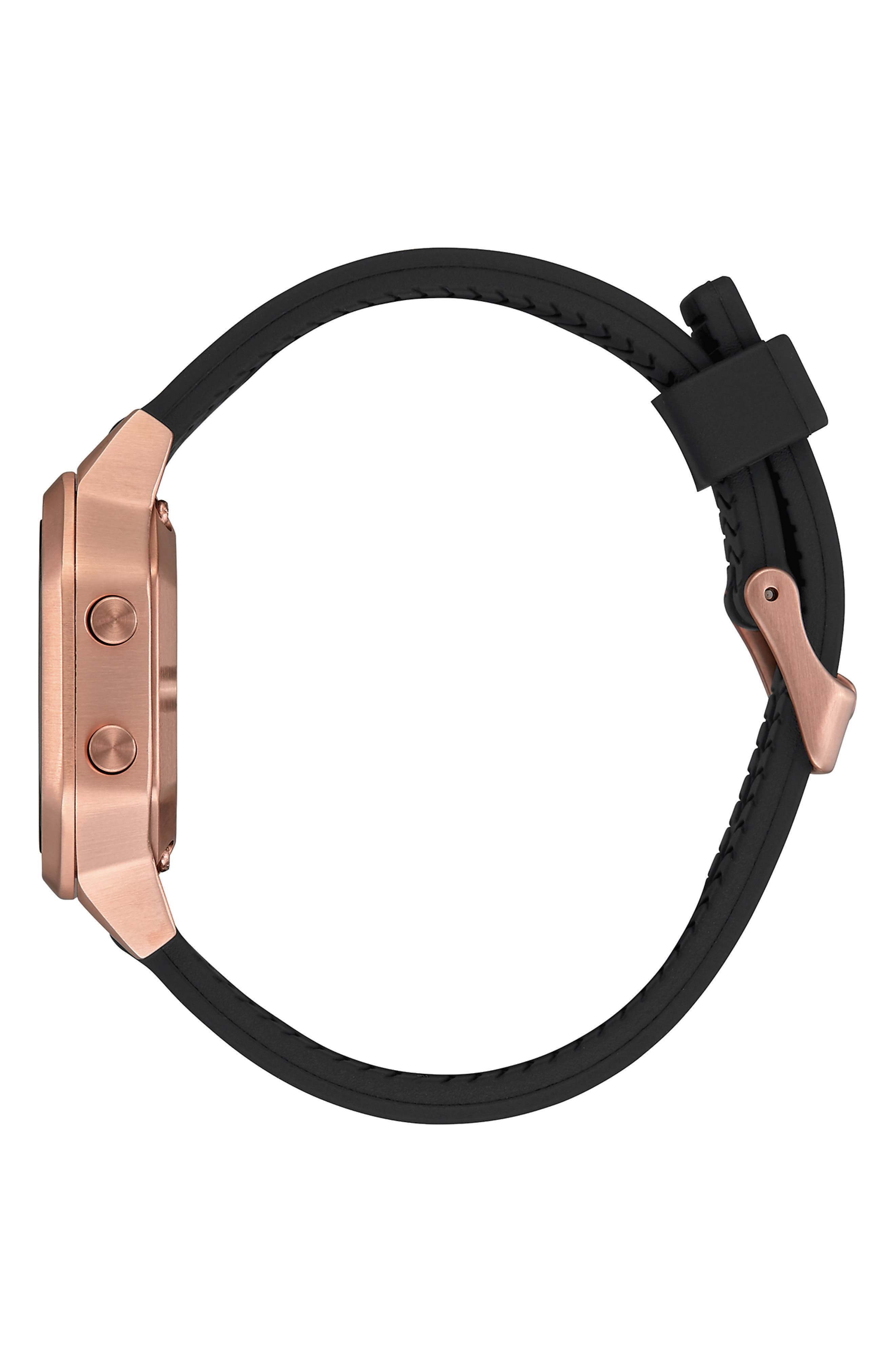 NIXON, Siren Digital Watch, 36mm, Alternate thumbnail 3, color, BLACK/ ROSE GOLD
