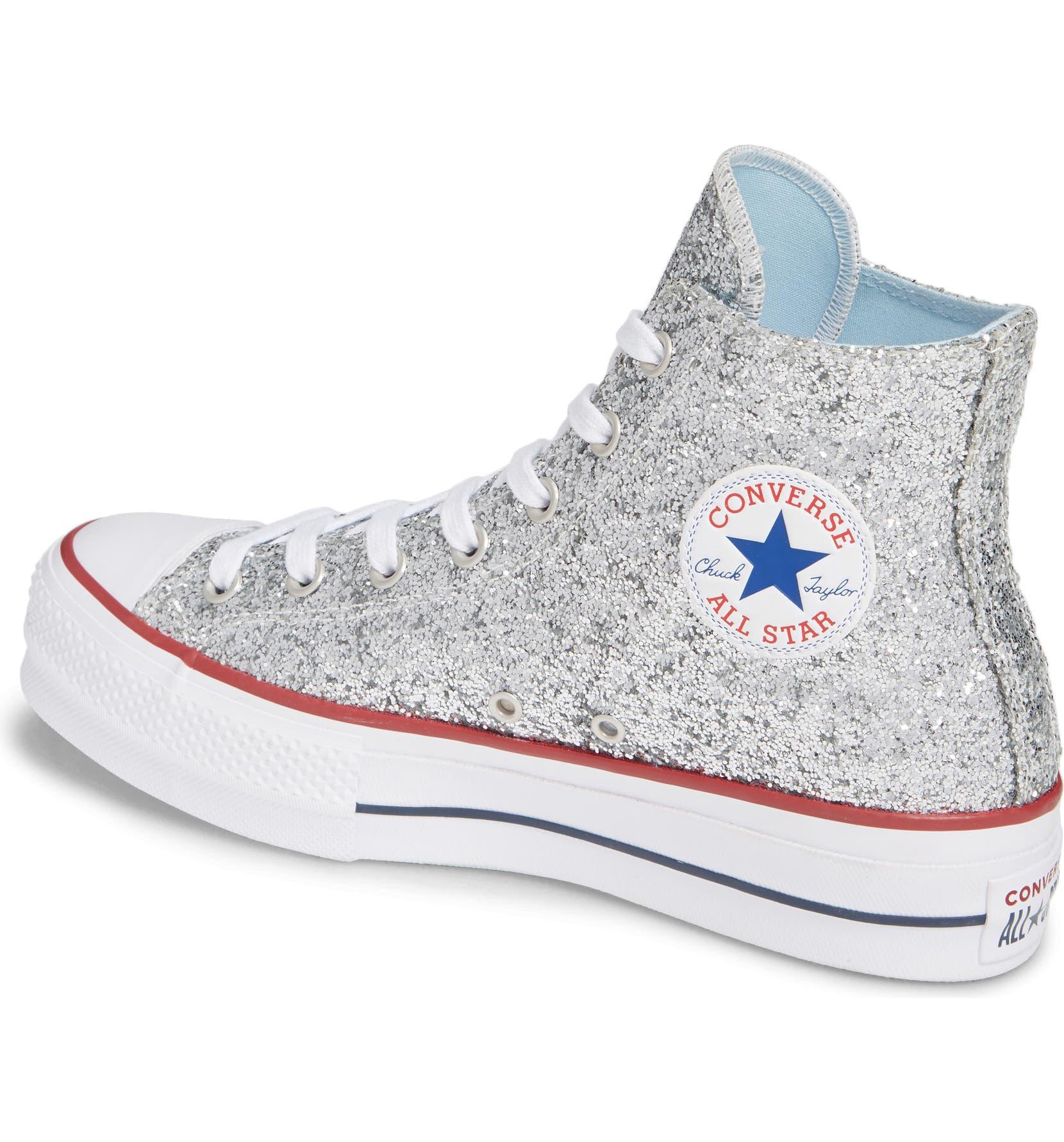 cef900e75f41 Converse x Chiara Ferragni 70 Hi One Star Glitter Platform Sneaker (Women)
