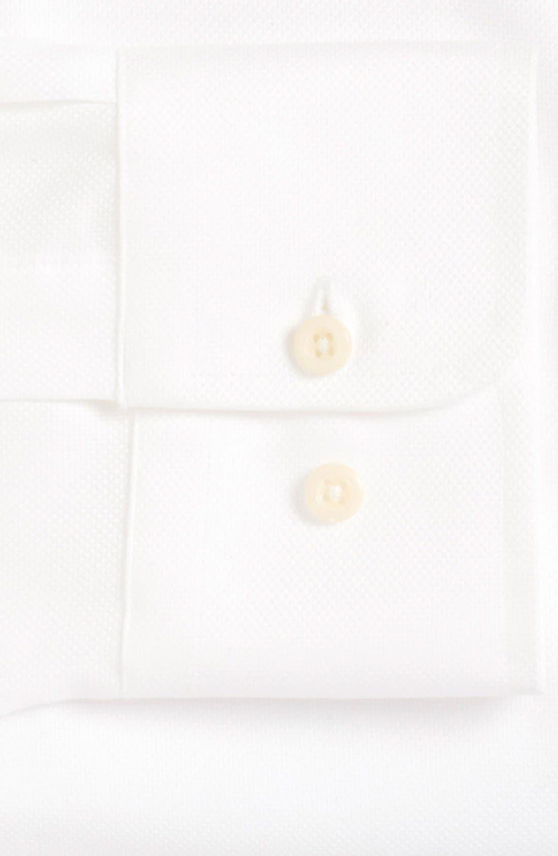 DAVID DONAHUE, Regular Fit Oxford Dress Shirt, Alternate thumbnail 7, color, WHITE