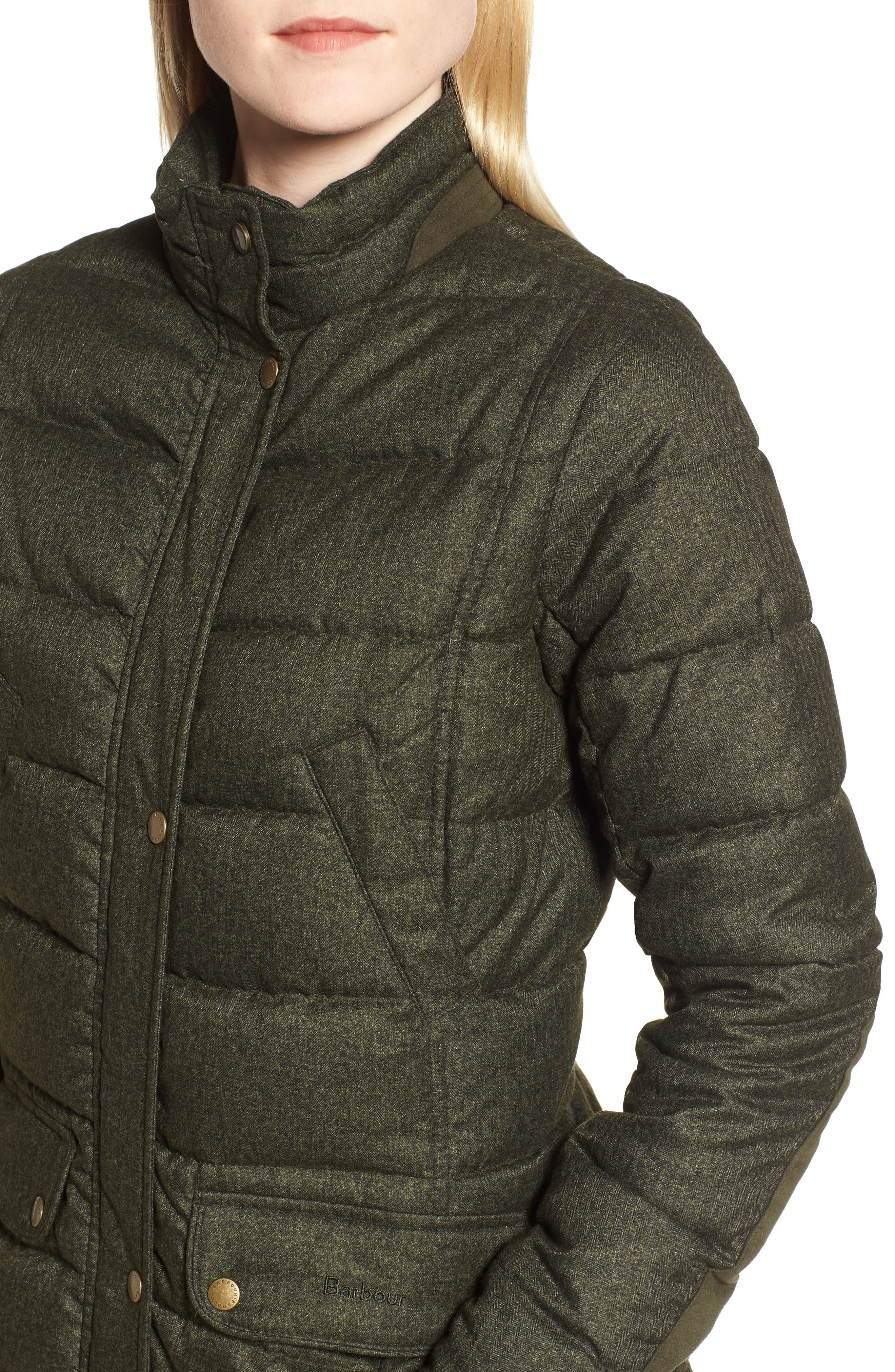 BARBOUR, Goldfinch Quilted Jacket, Alternate thumbnail 5, color, 400