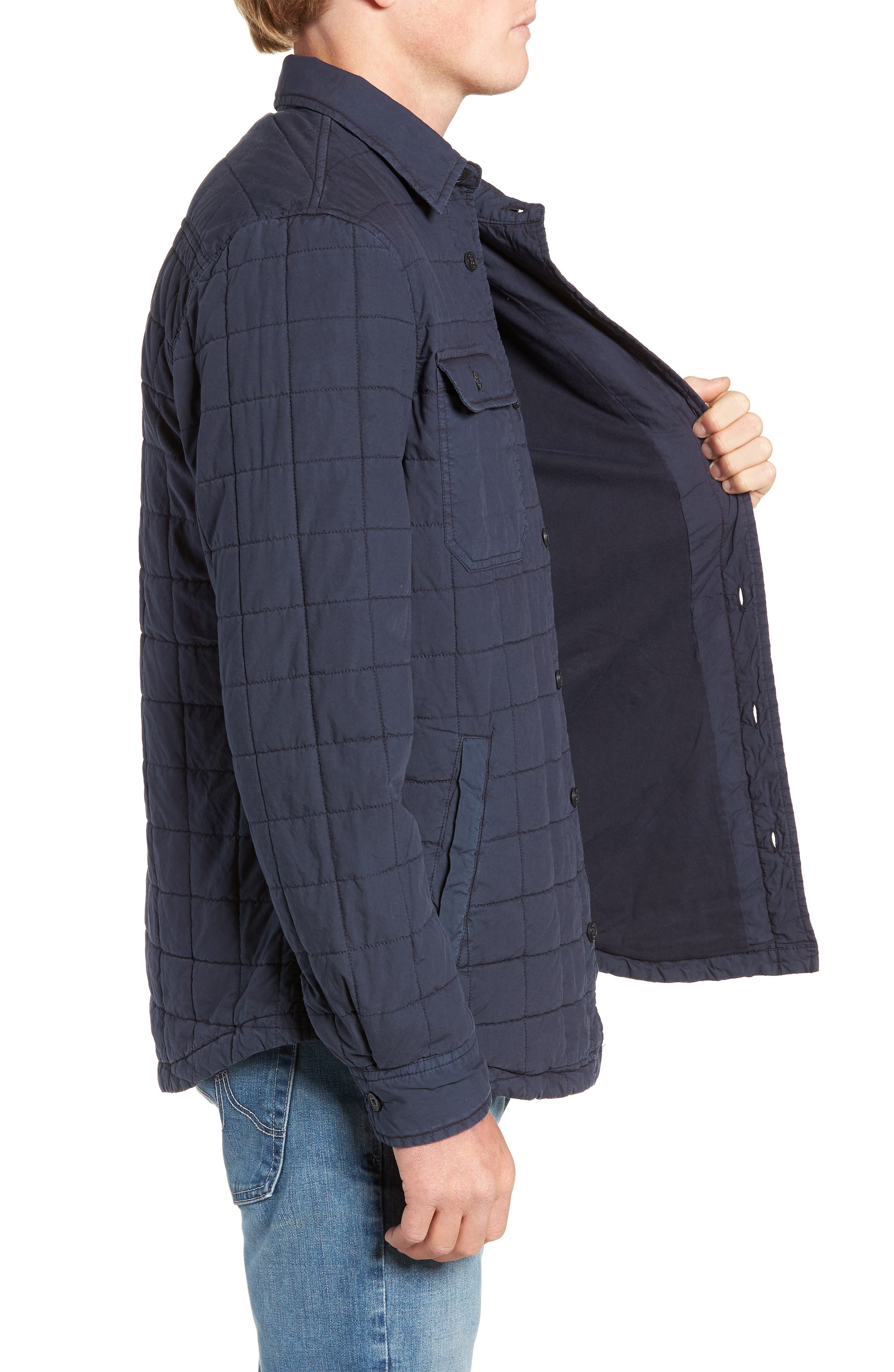 UGG<SUP>®</SUP>, Quilted Shirt Jacket, Alternate thumbnail 4, color, 400