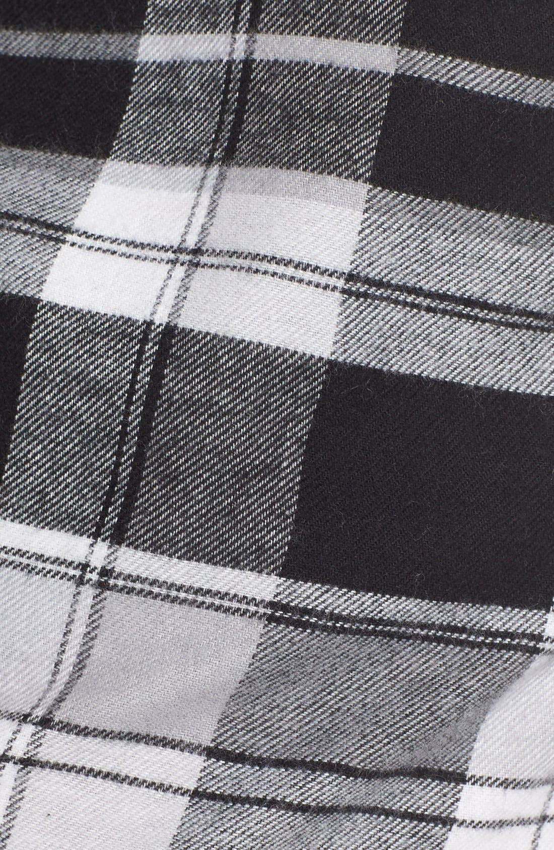 MAKE + MODEL, Plaid Flannel Lounge Pants, Alternate thumbnail 5, color, 001