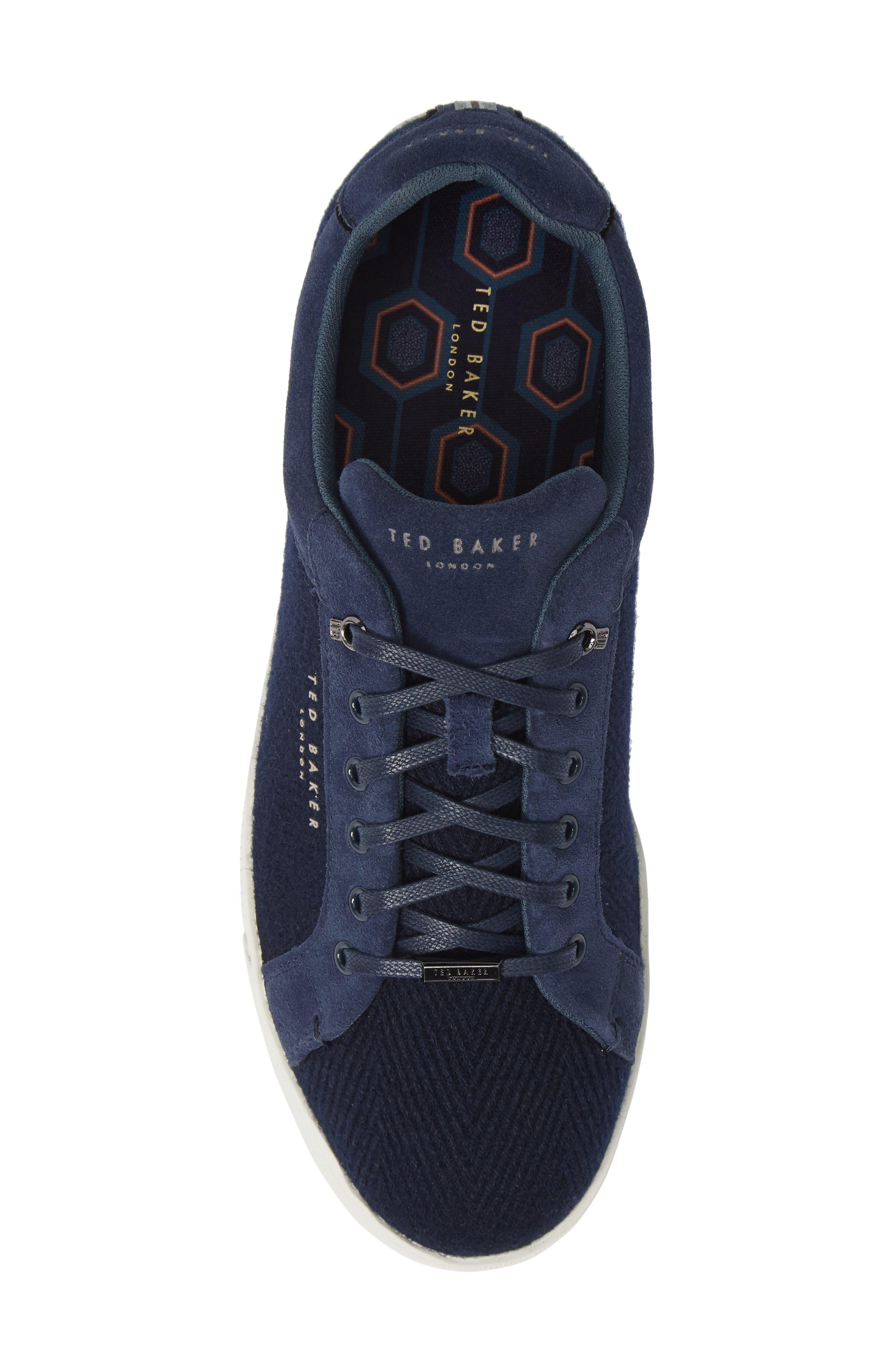 TED BAKER LONDON, Werill Sneaker, Alternate thumbnail 5, color, DARK BLUE WOOL