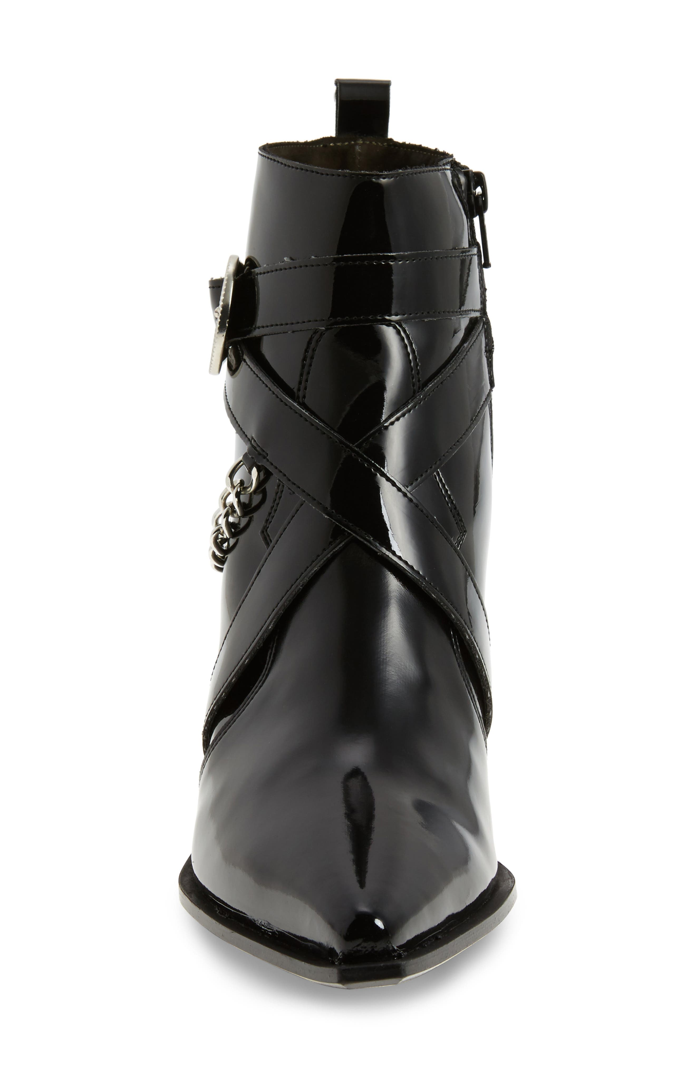 TOPSHOP, Move It Western Boot, Alternate thumbnail 4, color, 001