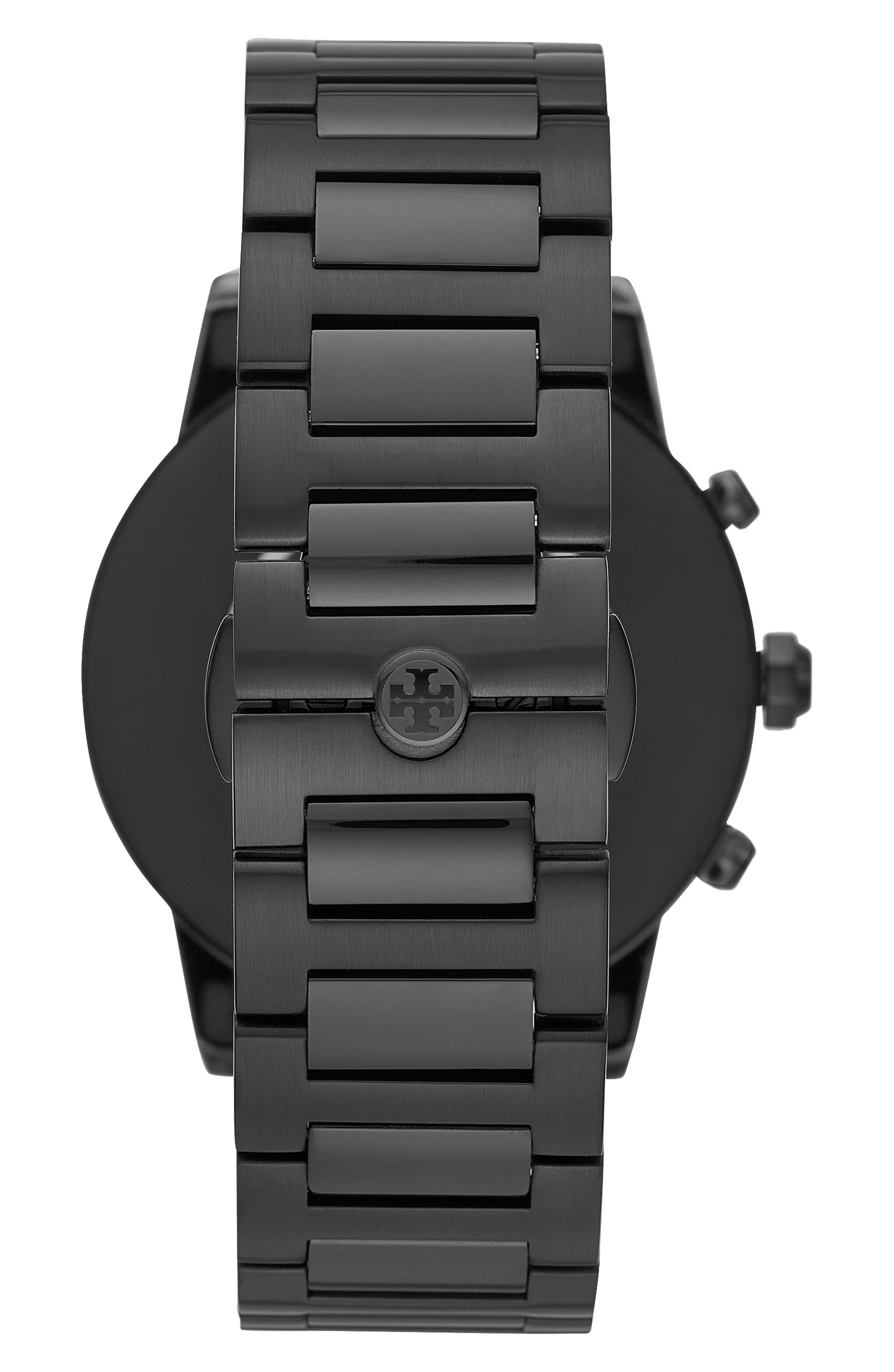 TORY BURCH, ToryTrack Gigi Touchscreen Smart Watch, 40mm, Alternate thumbnail 2, color, BLACK