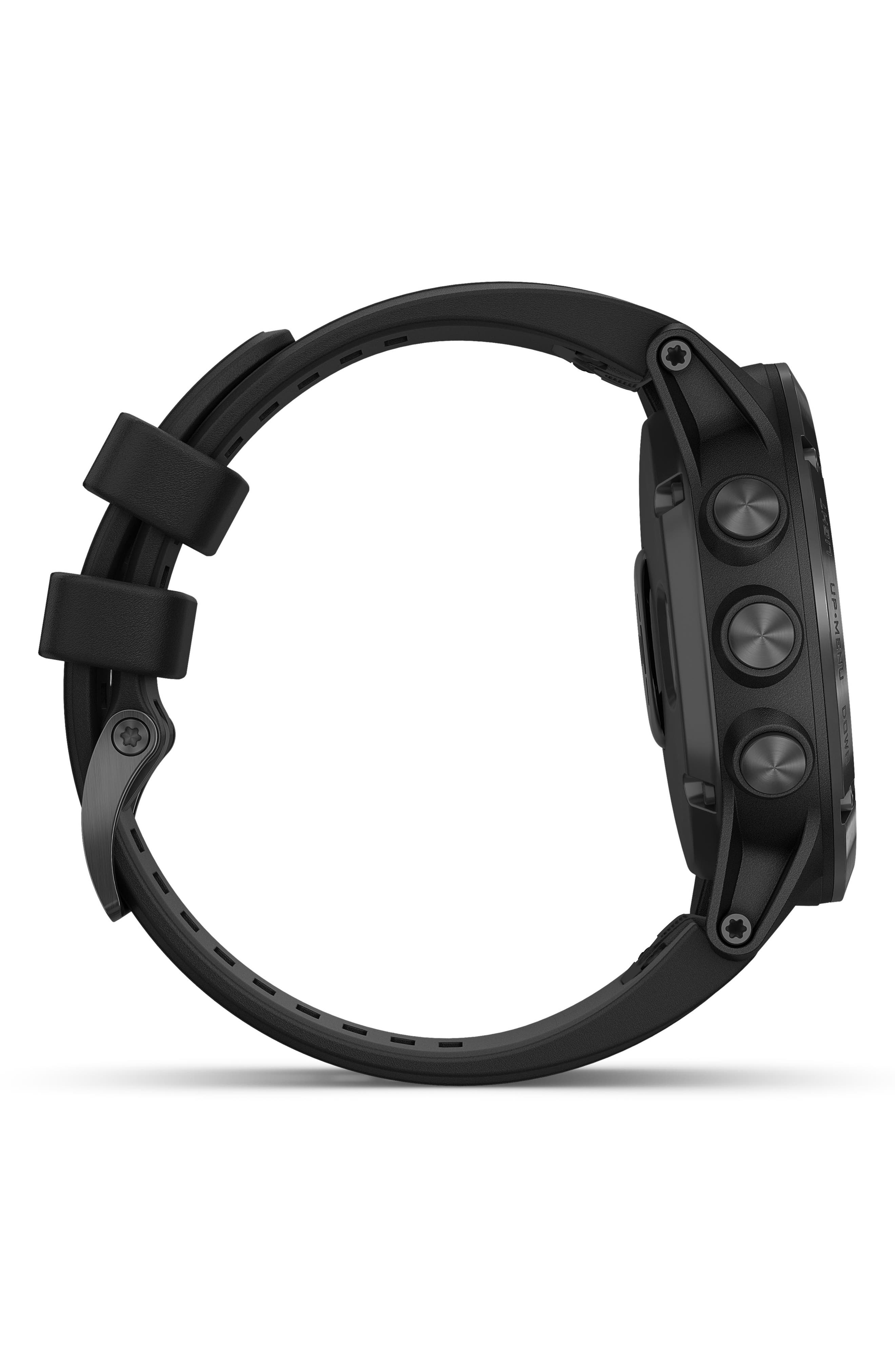 GARMIN, fenix<sup>®</sup> 5S Sapphire Premium Multisport GPS Watch, 51mm, Alternate thumbnail 3, color, BLACK