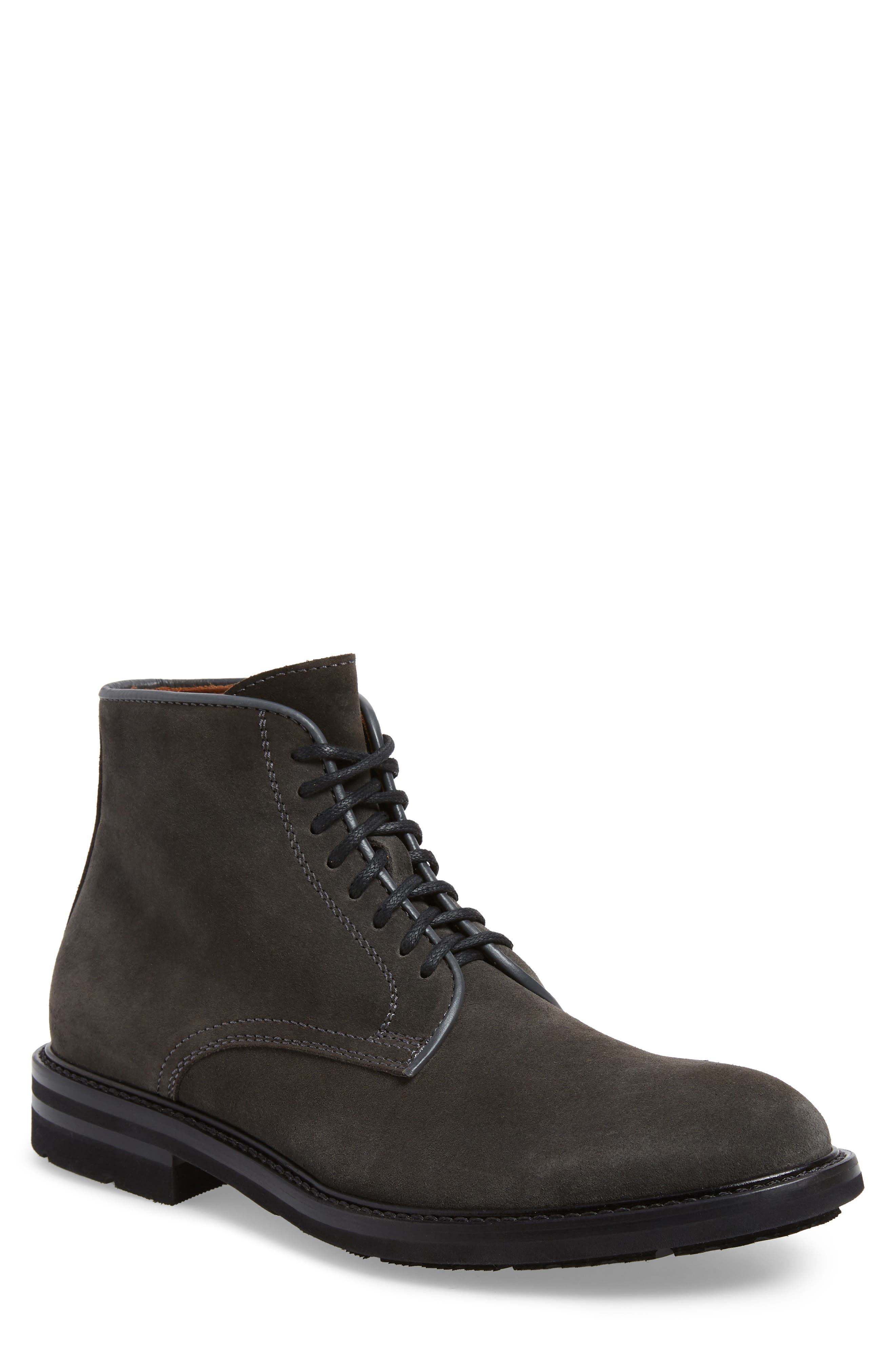 AQUATALIA Renzo Weatherproof Lace-Up Boot, Main, color, DARK CHARCOAL