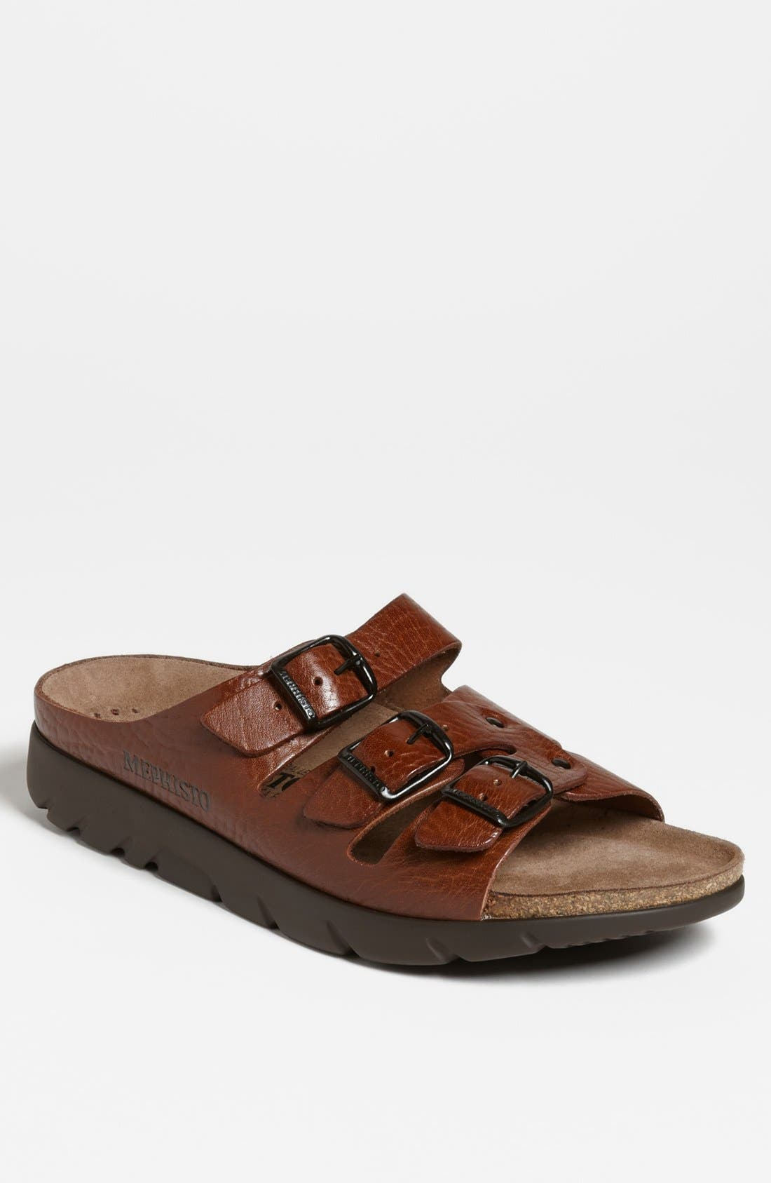 MEPHISTO, 'Zach 3' Sandal, Main thumbnail 1, color, TAN GRAIN