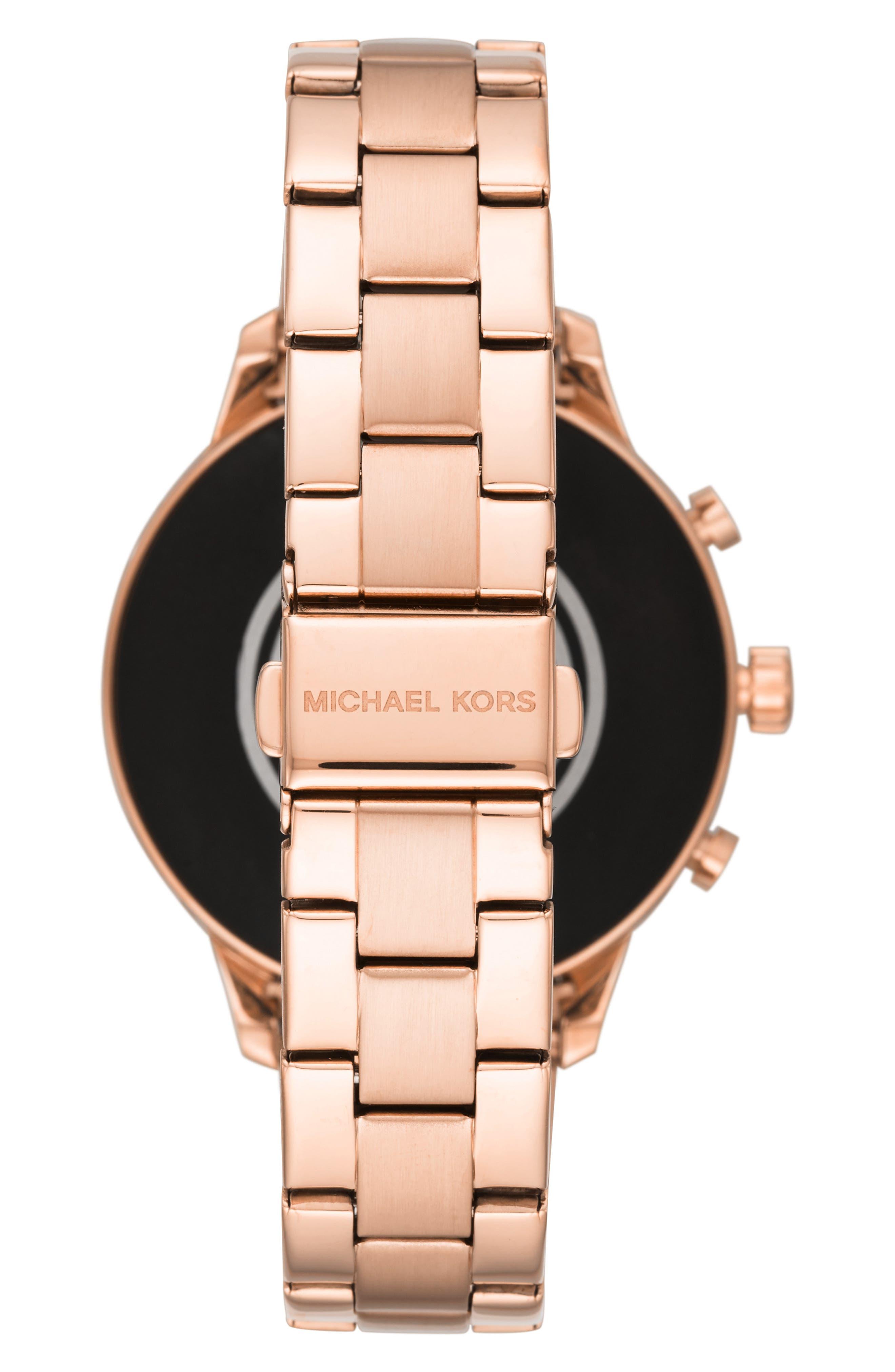 MICHAEL KORS, MICHAEL Michael Kors Access Runway Smart Bracelet Watch, 41mm, Alternate thumbnail 2, color, ROSE GOLD