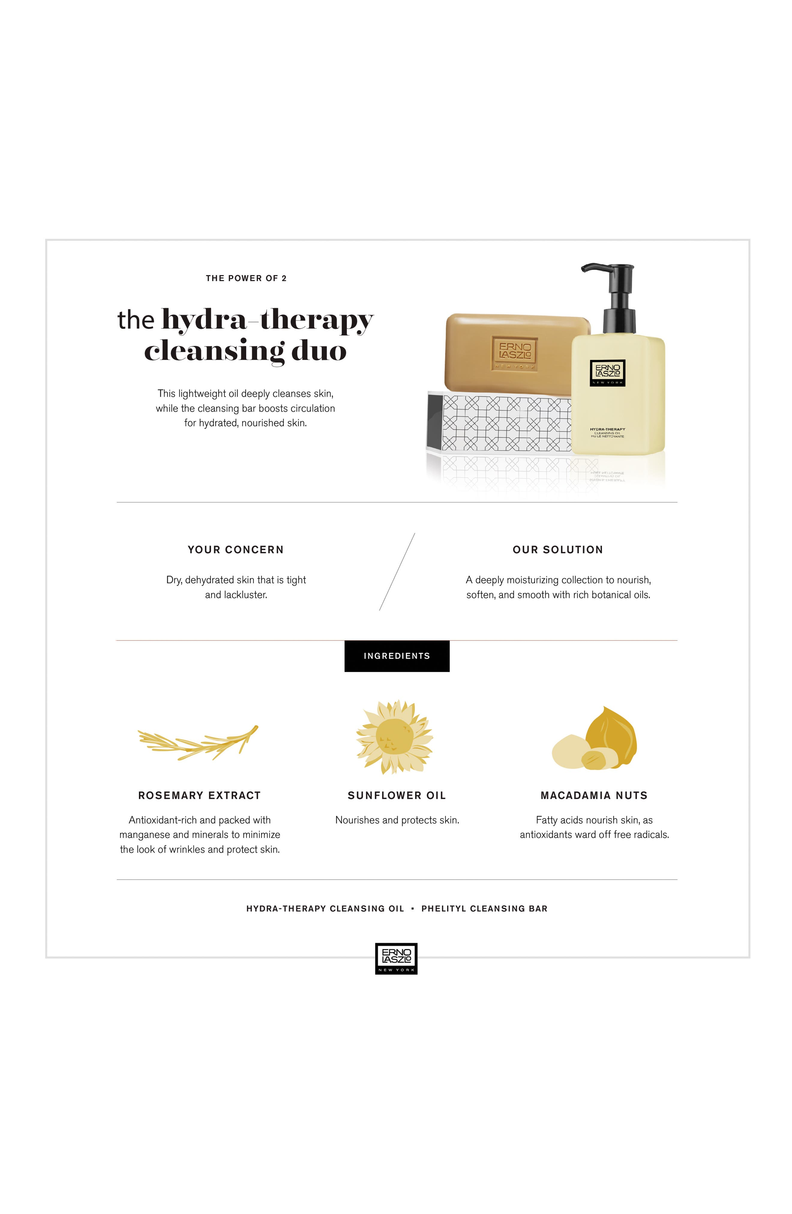 ERNO LASZLO, Hydra-Therapy Double Cleanse Travel Set, Alternate thumbnail 2, color, NO COLOR