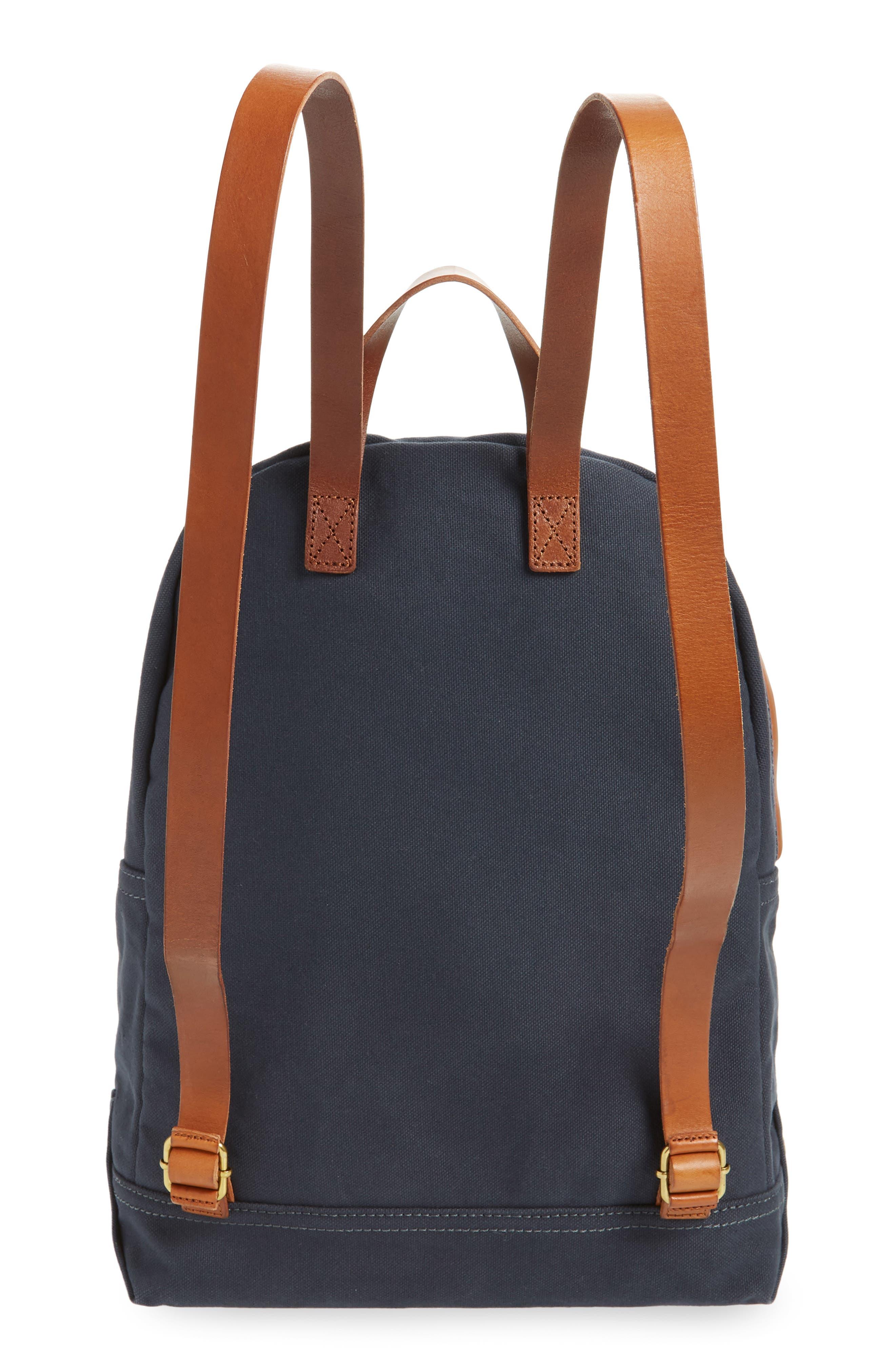 MADEWELL, The Charleston Backpack, Alternate thumbnail 4, color, BLACK SEA