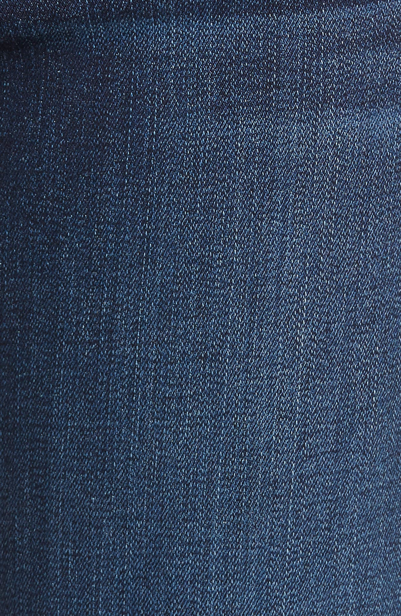 7 FOR ALL MANKIND<SUP>®</SUP>, Ankle Skinny Jeans, Alternate thumbnail 6, color, AUTHENTIC FATE