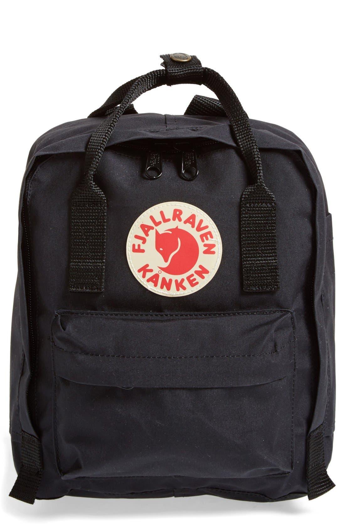 FJÄLLRÄVEN, 'Mini Kånken' Water Resistant Backpack, Main thumbnail 1, color, 001