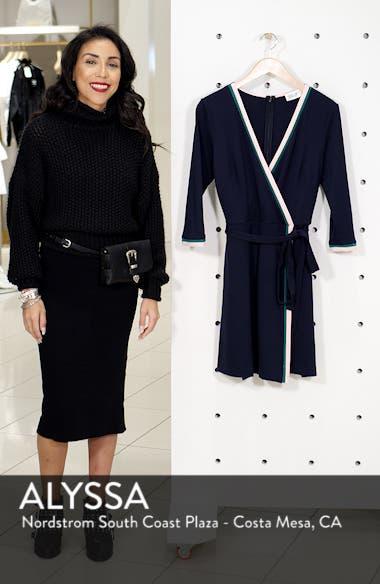 Stripe Faux Wrap Dress, sales video thumbnail