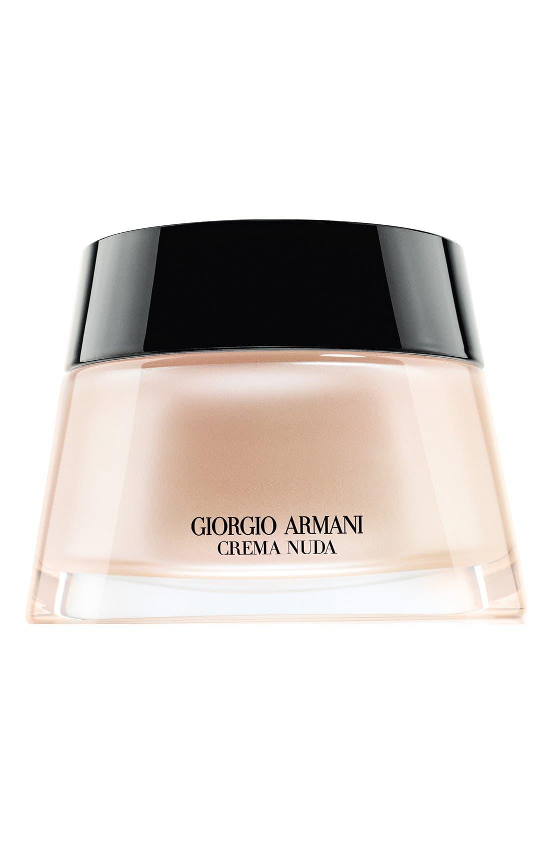GIORGIO ARMANI, Crema Nuda Tinted Cream, Main thumbnail 1, color, 01 NUDE GLOW