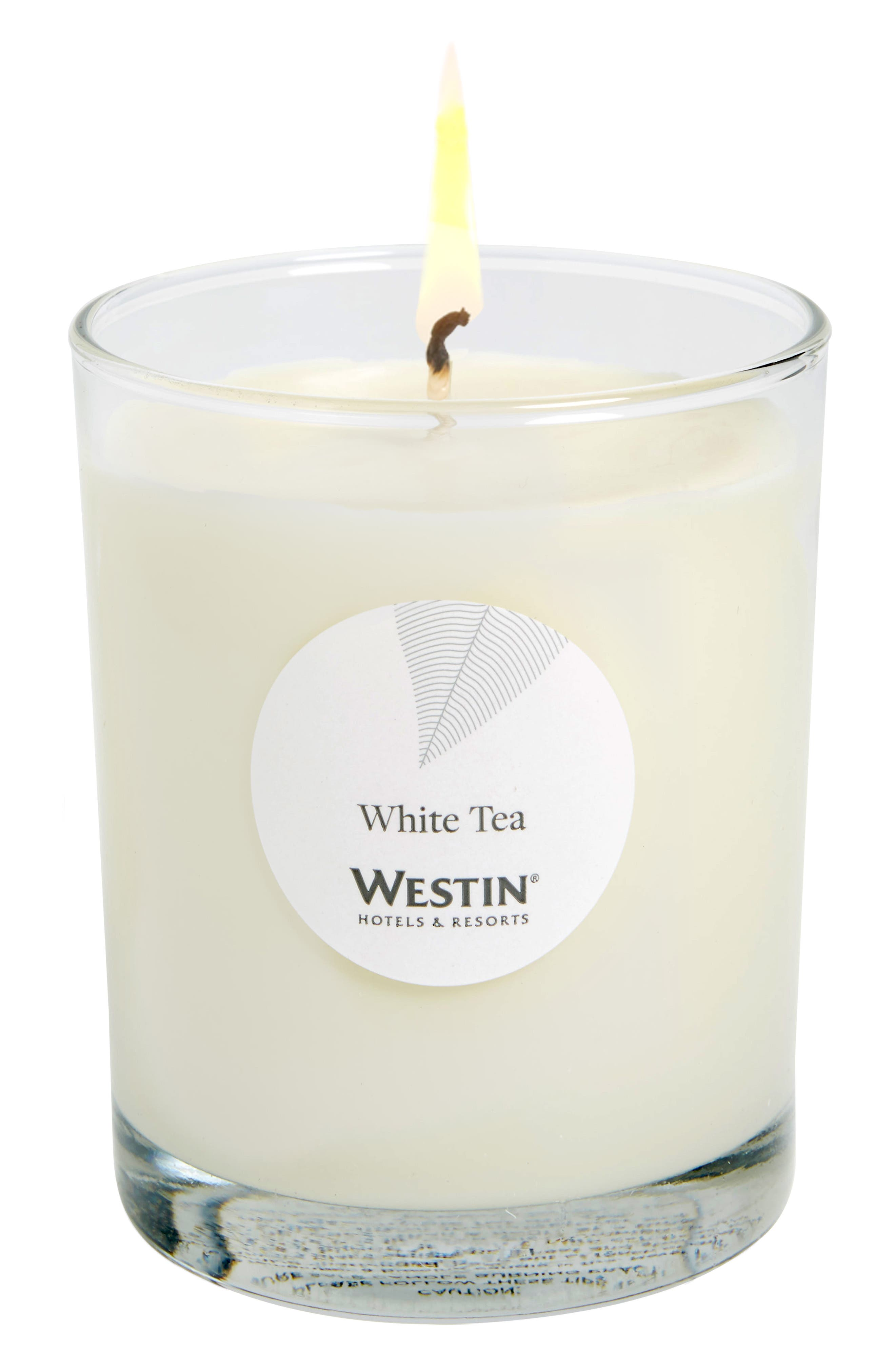 WESTIN AT HOME, White Tea Candle, Main thumbnail 1, color, 100