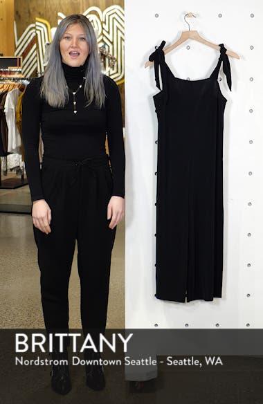 Tie Shoulder Crop Jumpsuit, sales video thumbnail