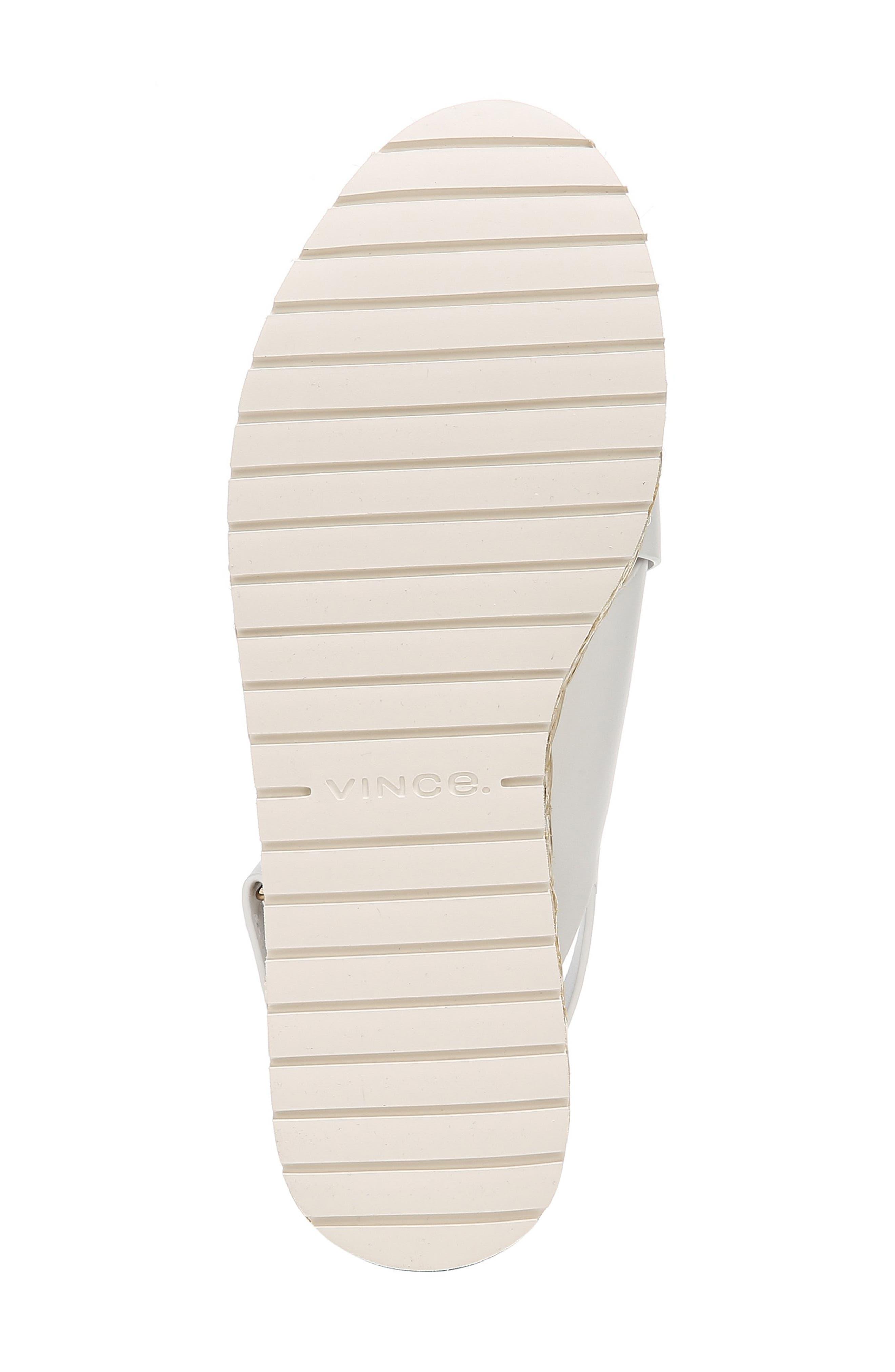 VINCE, Jesson Espadrille Slingback Sandal, Alternate thumbnail 6, color, OFF WHITE