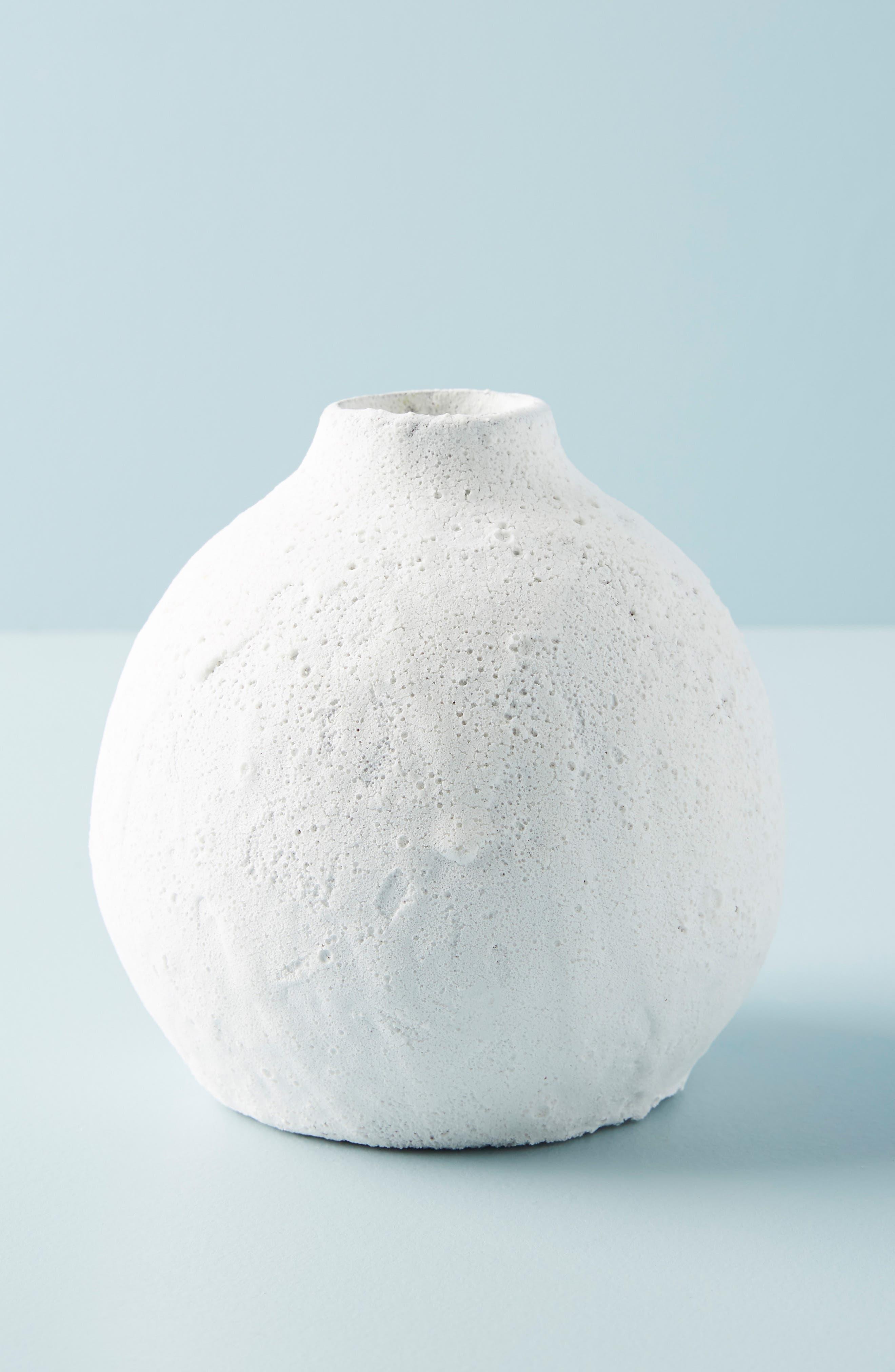 ANTHROPOLOGIE Small Lark Vase, Main, color, WHITE