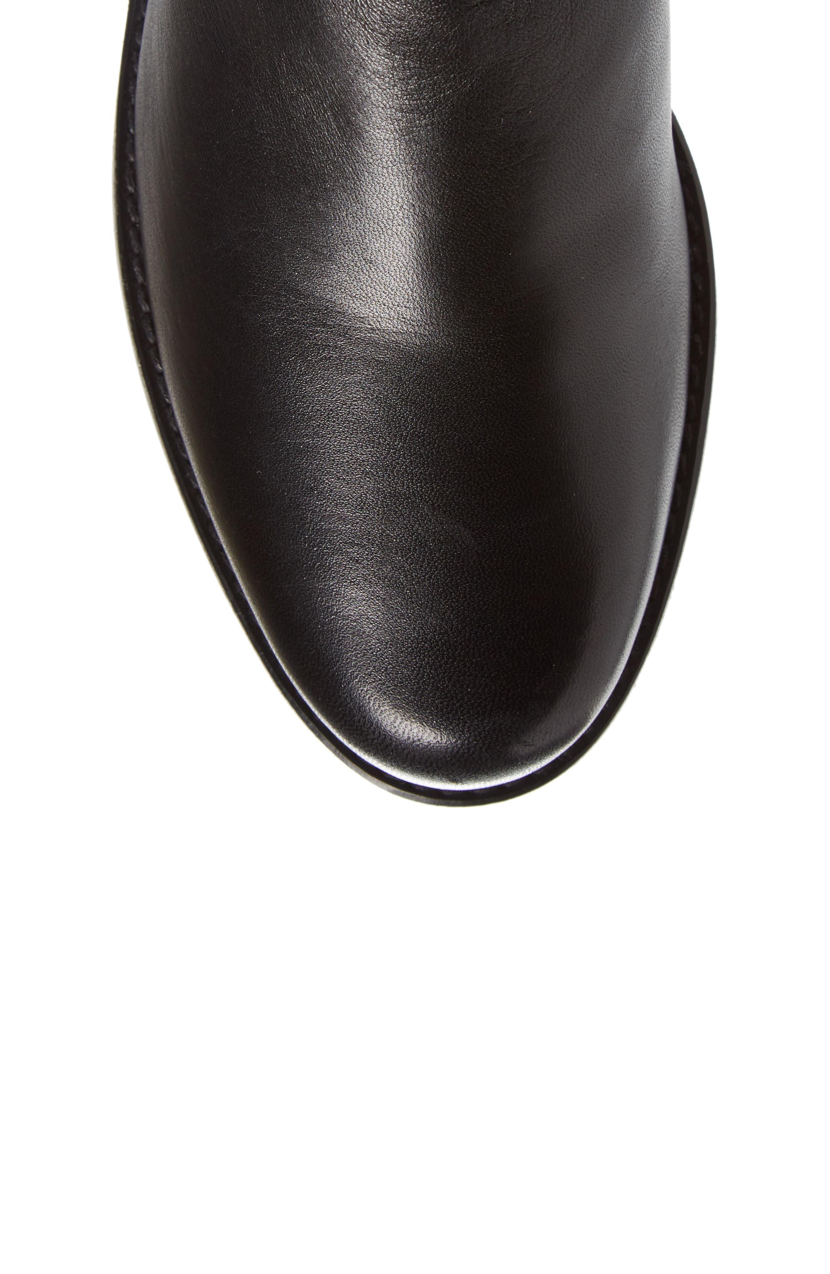 STUART WEITZMAN, 'Reserve' Over the Knee Boot, Alternate thumbnail 5, color, BLACK NAPPA