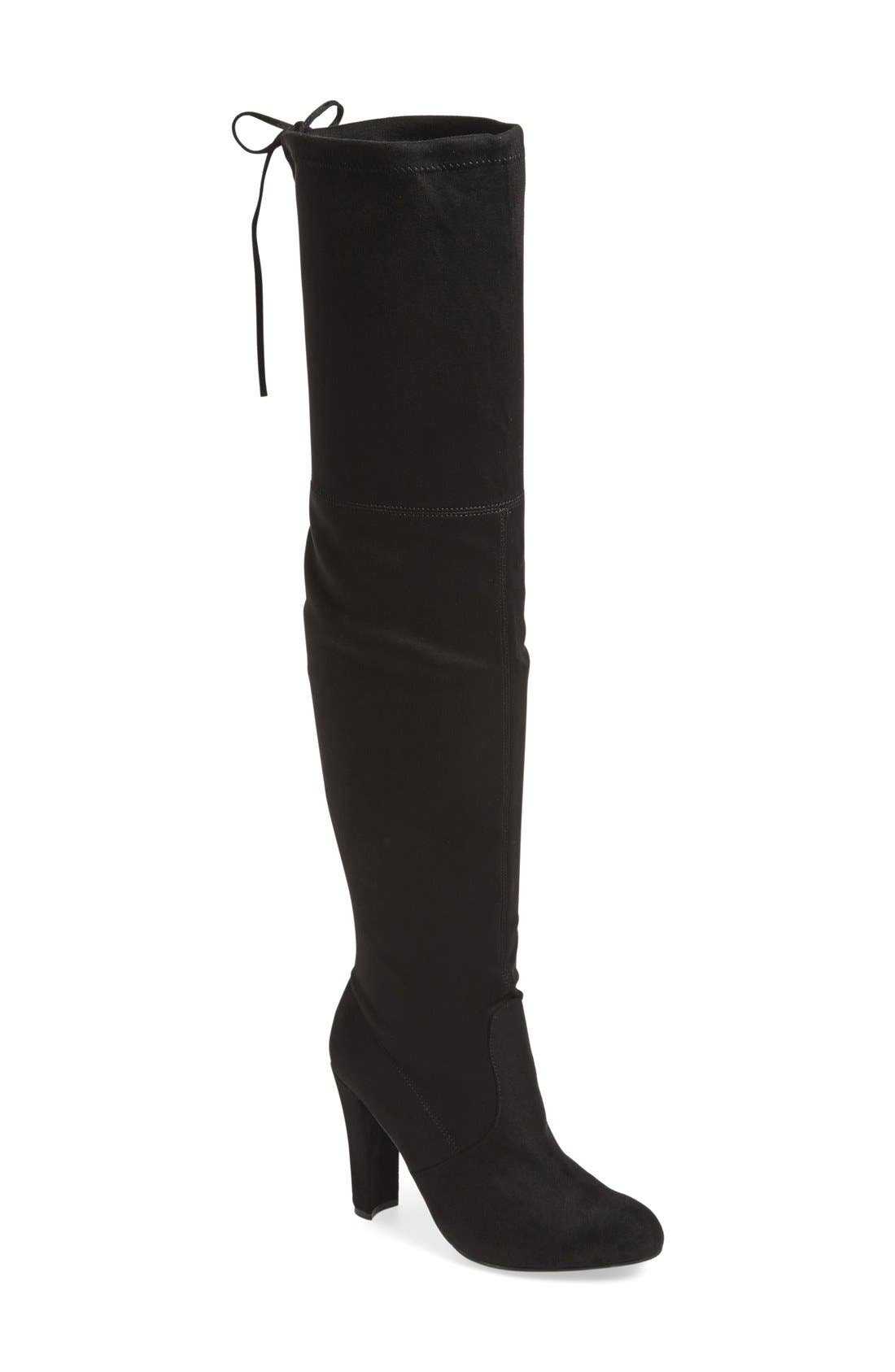 STEVE MADDEN, 'Gorgeous' Over the KneeBoot, Main thumbnail 1, color, 005