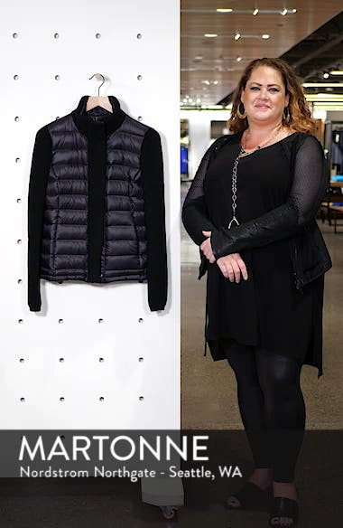 Mark New York Packable Knit Trim Puffer Jacket, sales video thumbnail