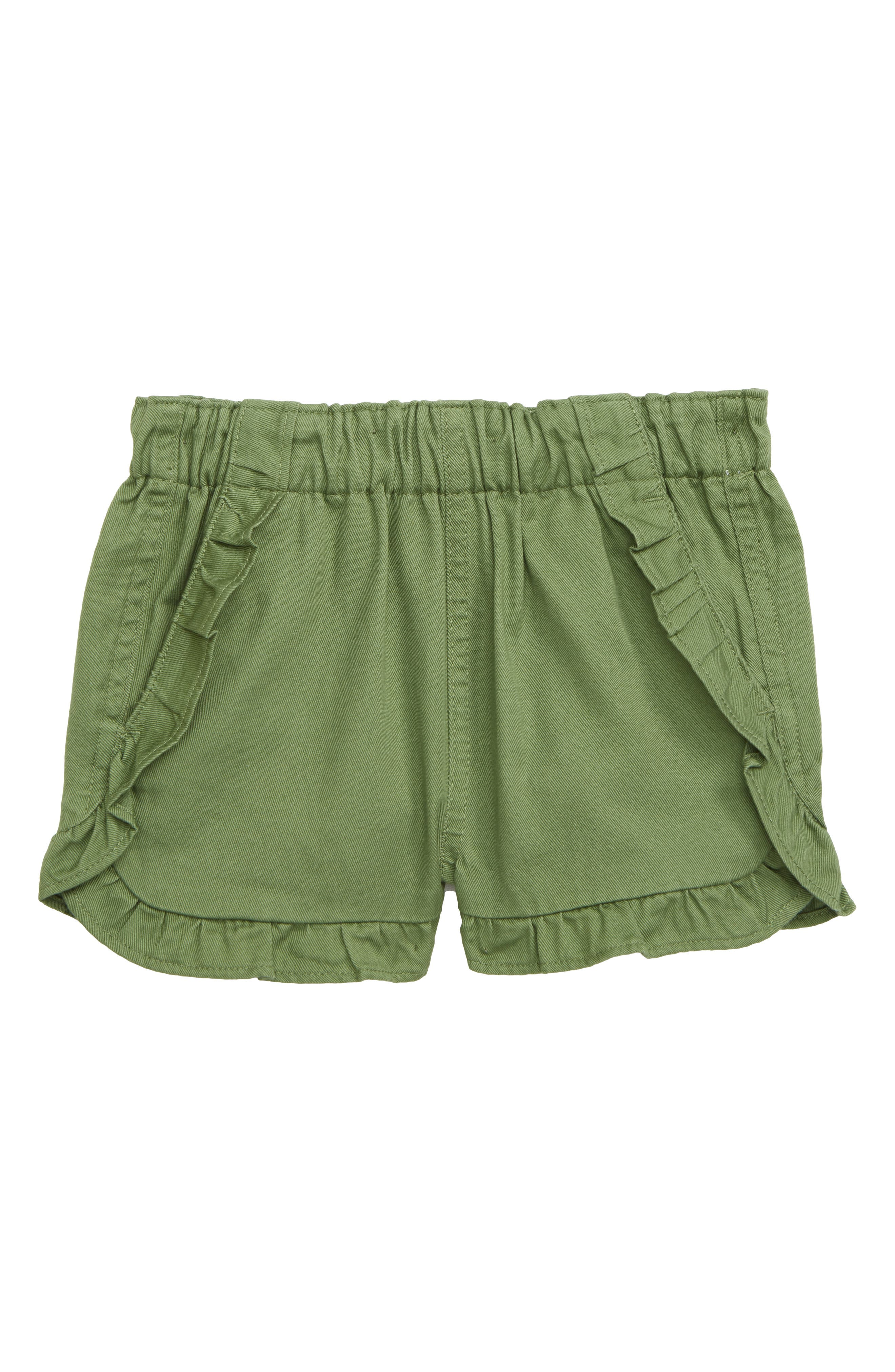 Girls Crewcuts By Jcrew Elsa Ruffle PullOn Shorts Size 5  Green