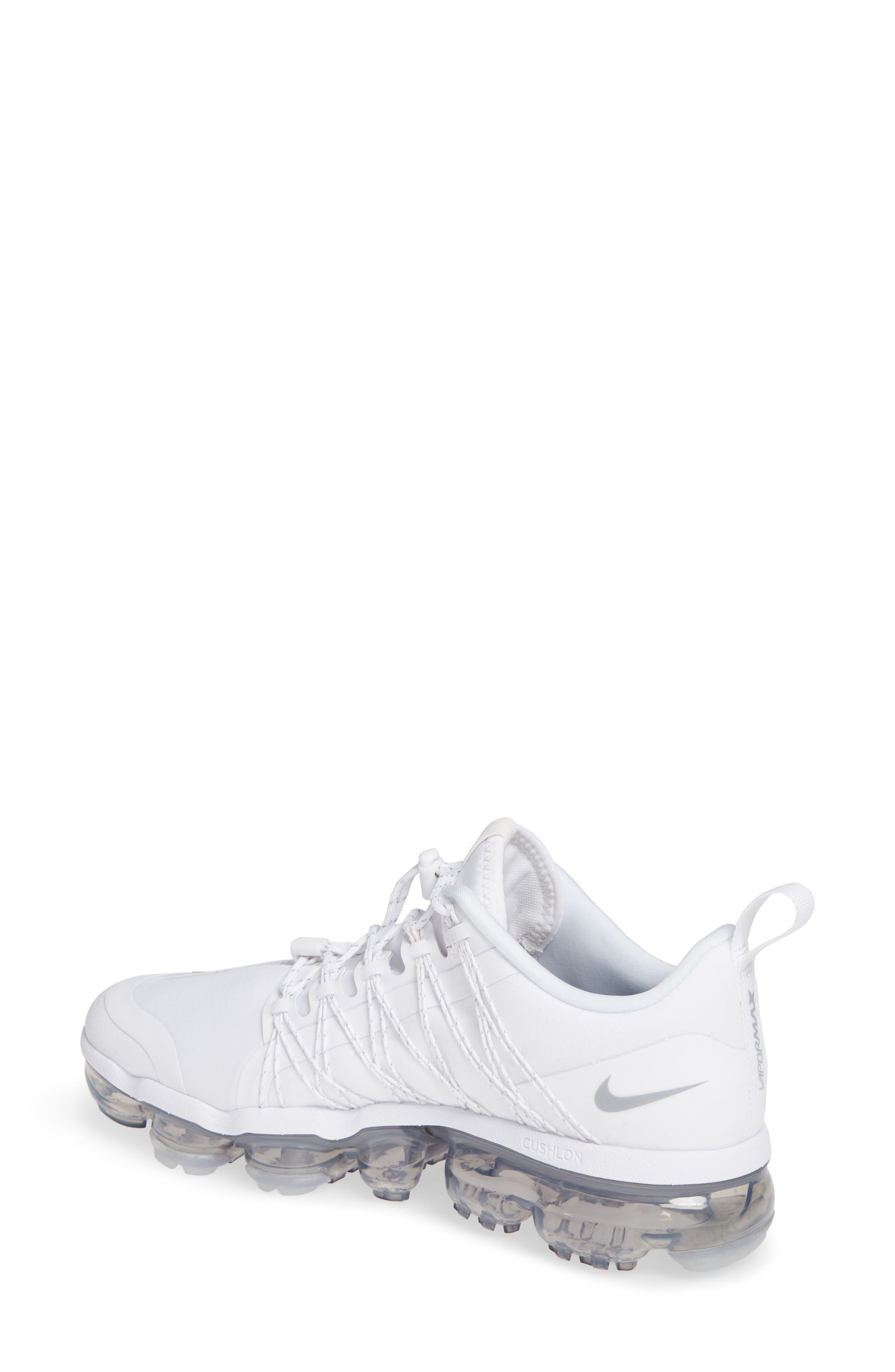 NIKE, Air VaporMax Run Utility Sneaker, Alternate thumbnail 2, color, WHITE/ REFLECT SILVER/ WHITE