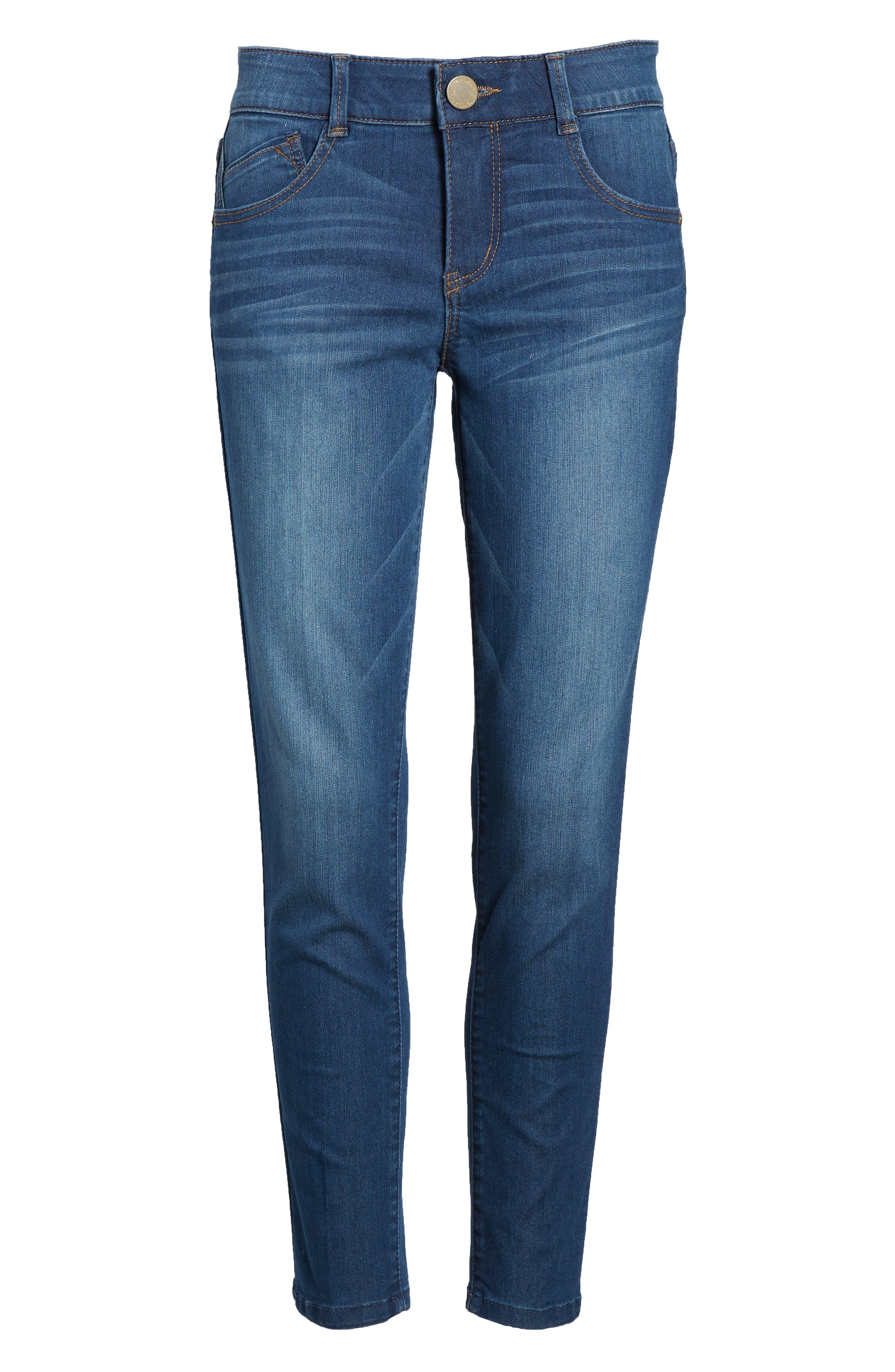 WIT & WISDOM, Ab-solution Ankle Skimmer Jeans, Alternate thumbnail 7, color, BLUE