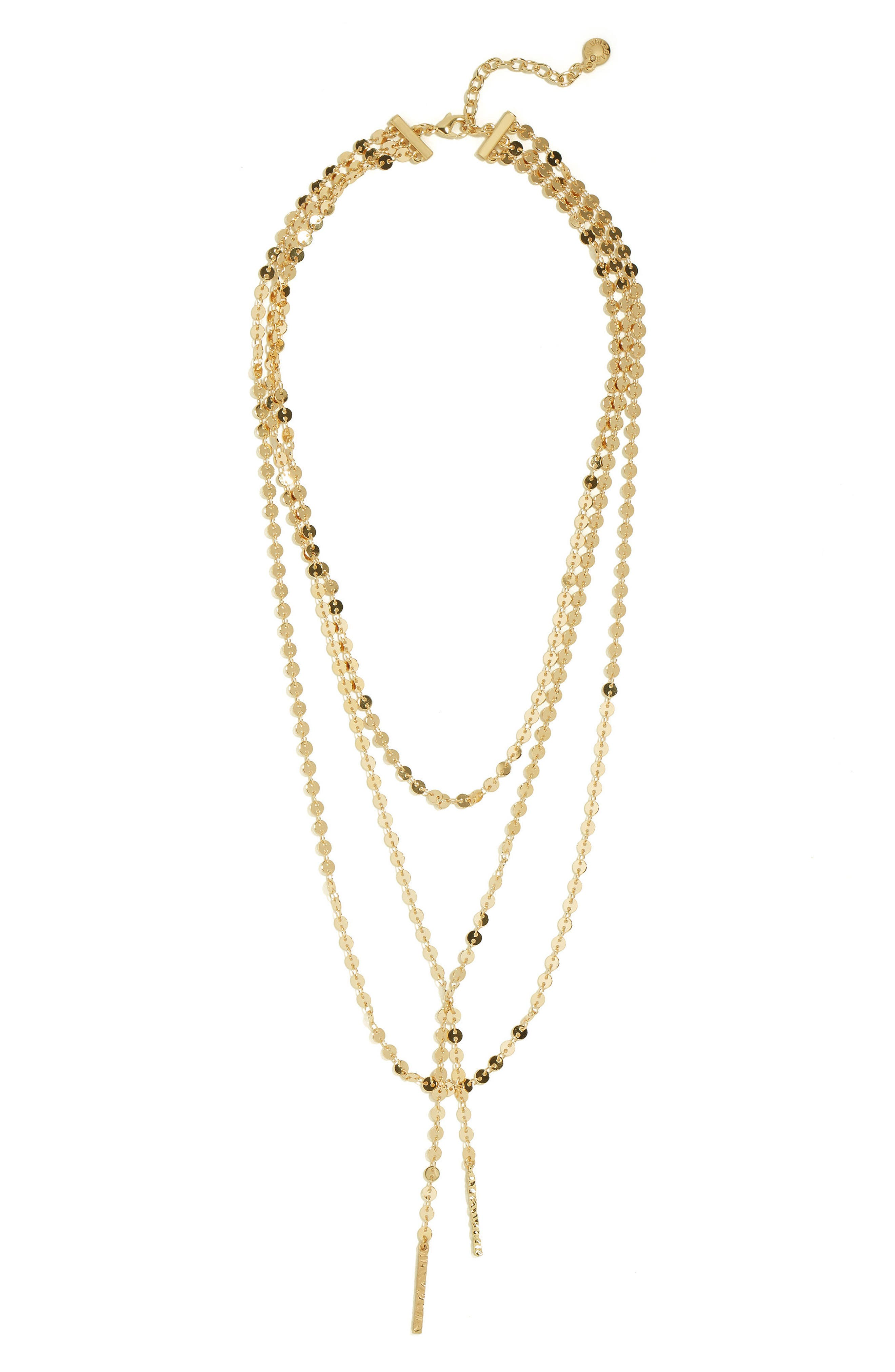 BAUBLEBAR, Amber Layered Chain Y-Necklace, Alternate thumbnail 2, color, GOLD